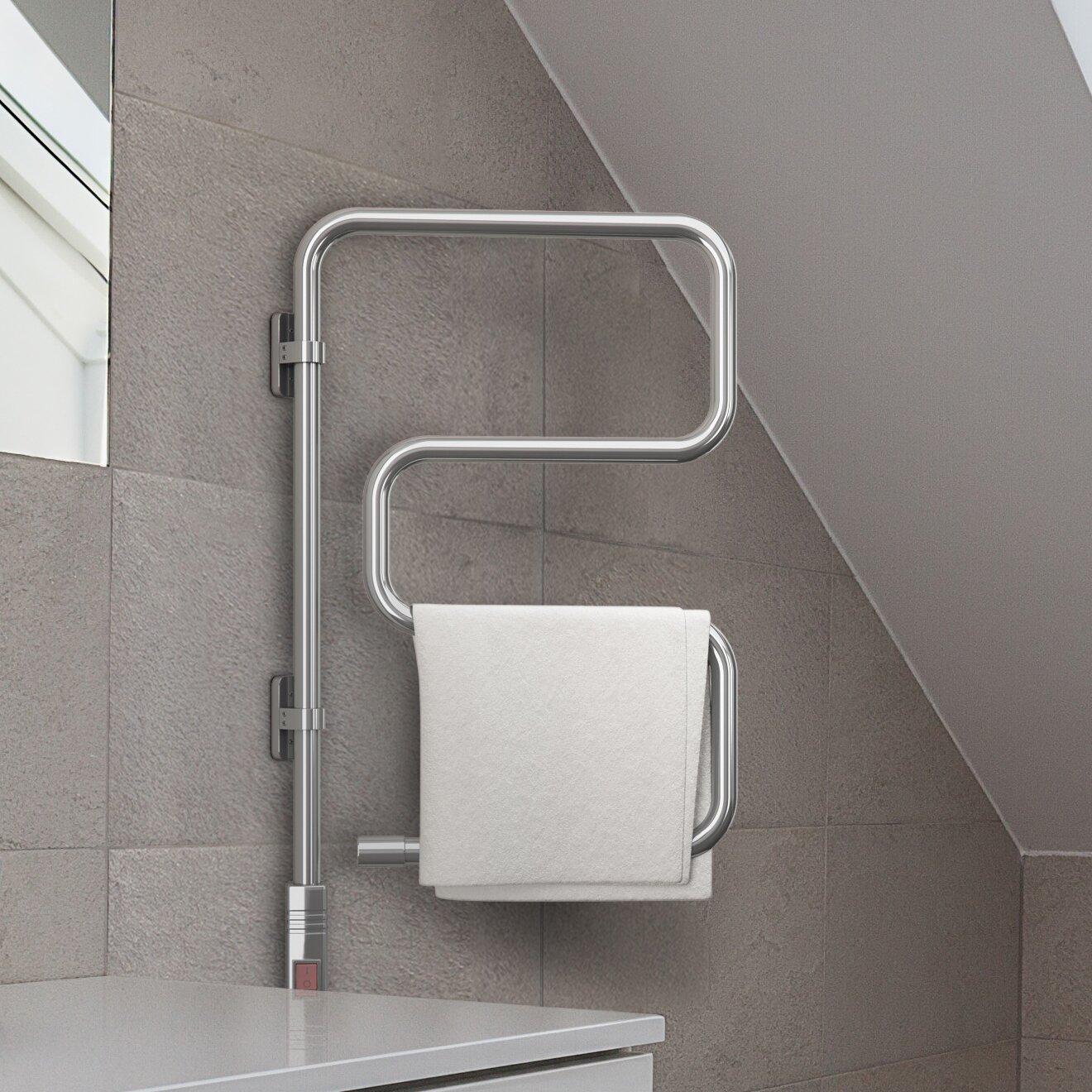 Wall Mounted Electric Towel Warmer ~ Ancona comfort swivel wall mounted electric towel warmer