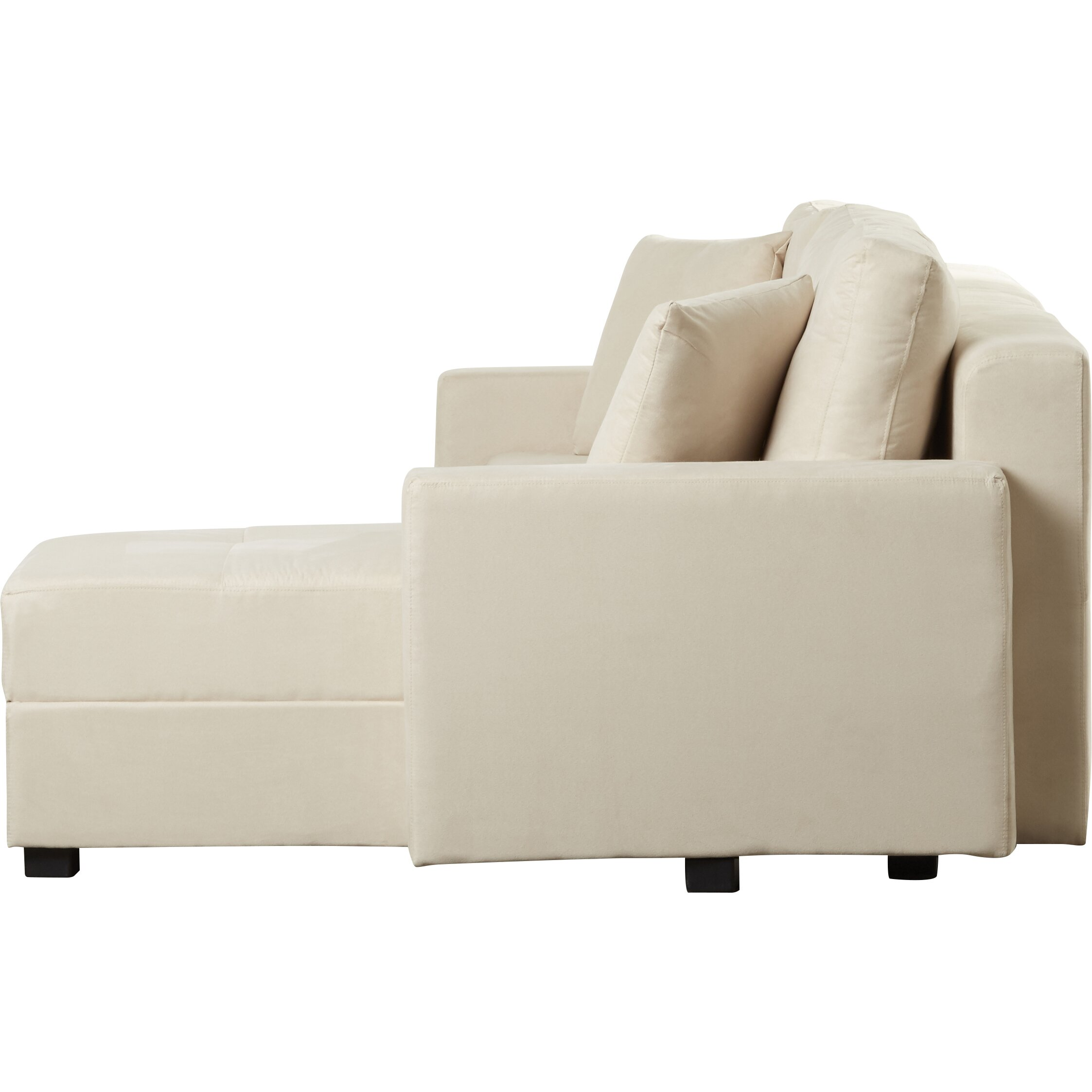 Three posts hartsville reversible chaise corner sofa for Chaise corner sofas