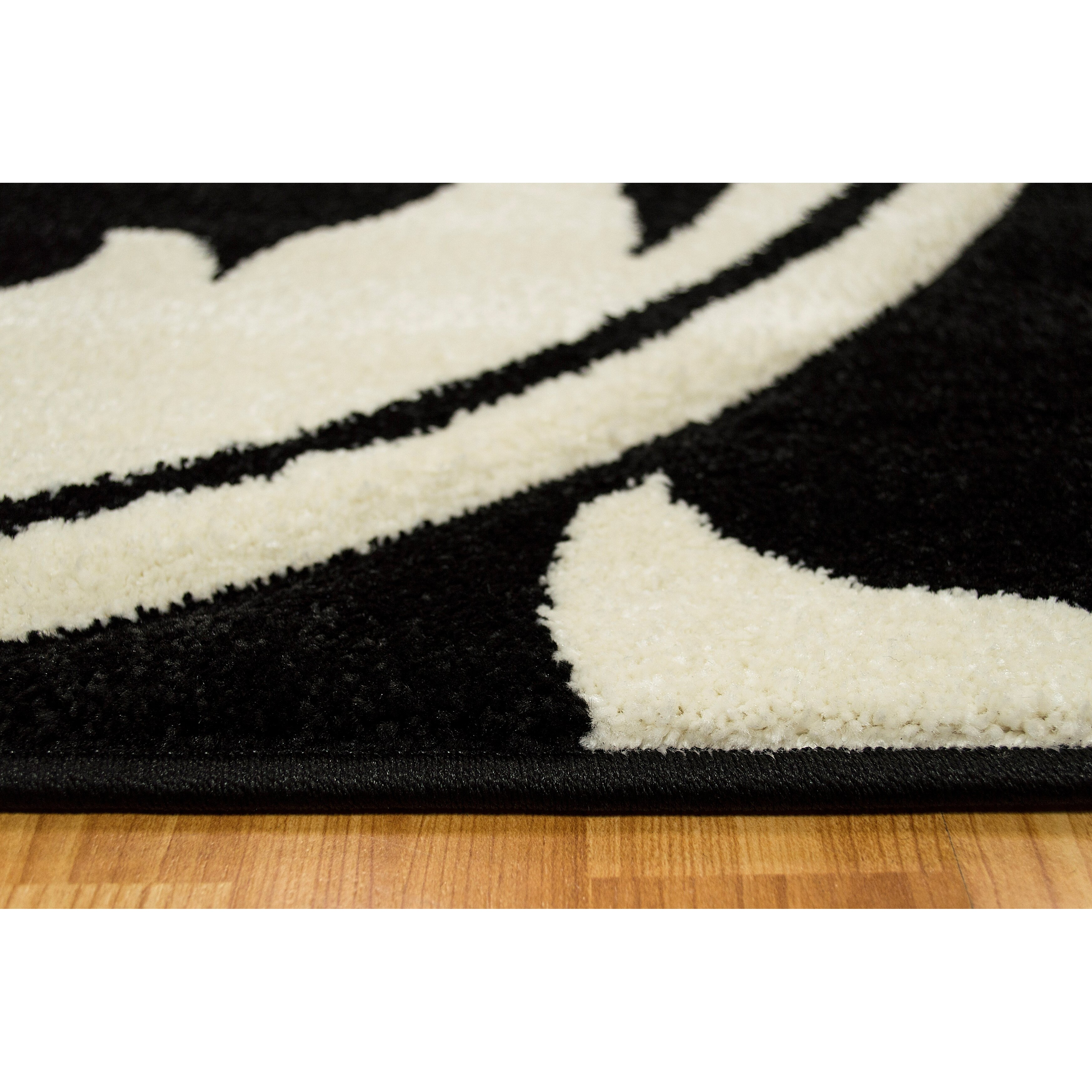 Brady Home Floral Salt Pepper Black White Area Rug Wayfair