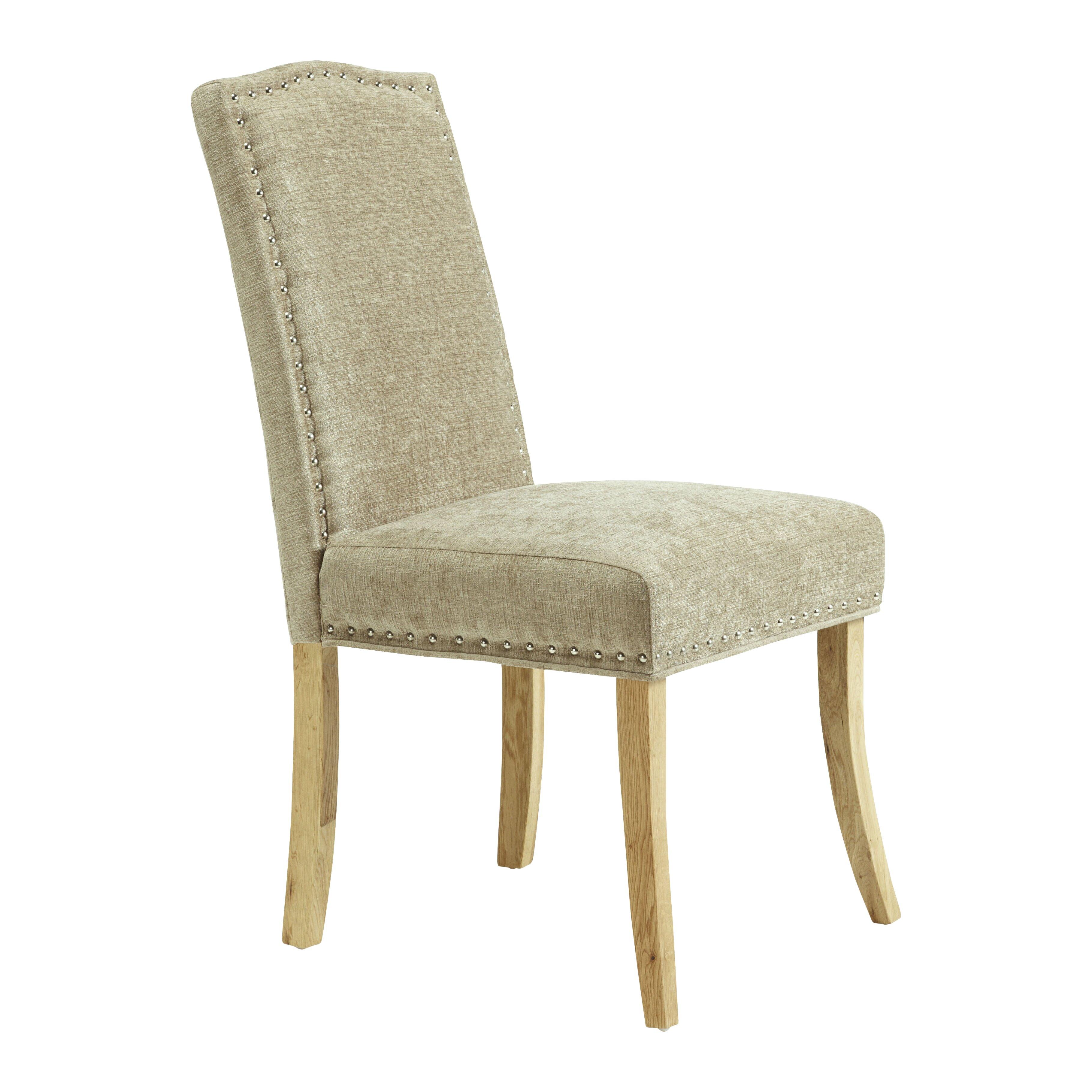 Fairmont park looe solid oak upholstered dining chair for Upholstered dining chairs