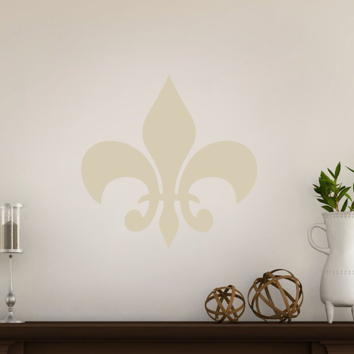 Sweetumswalldecals fleur de lis wall decal reviews wayfair Fleur de lis wall