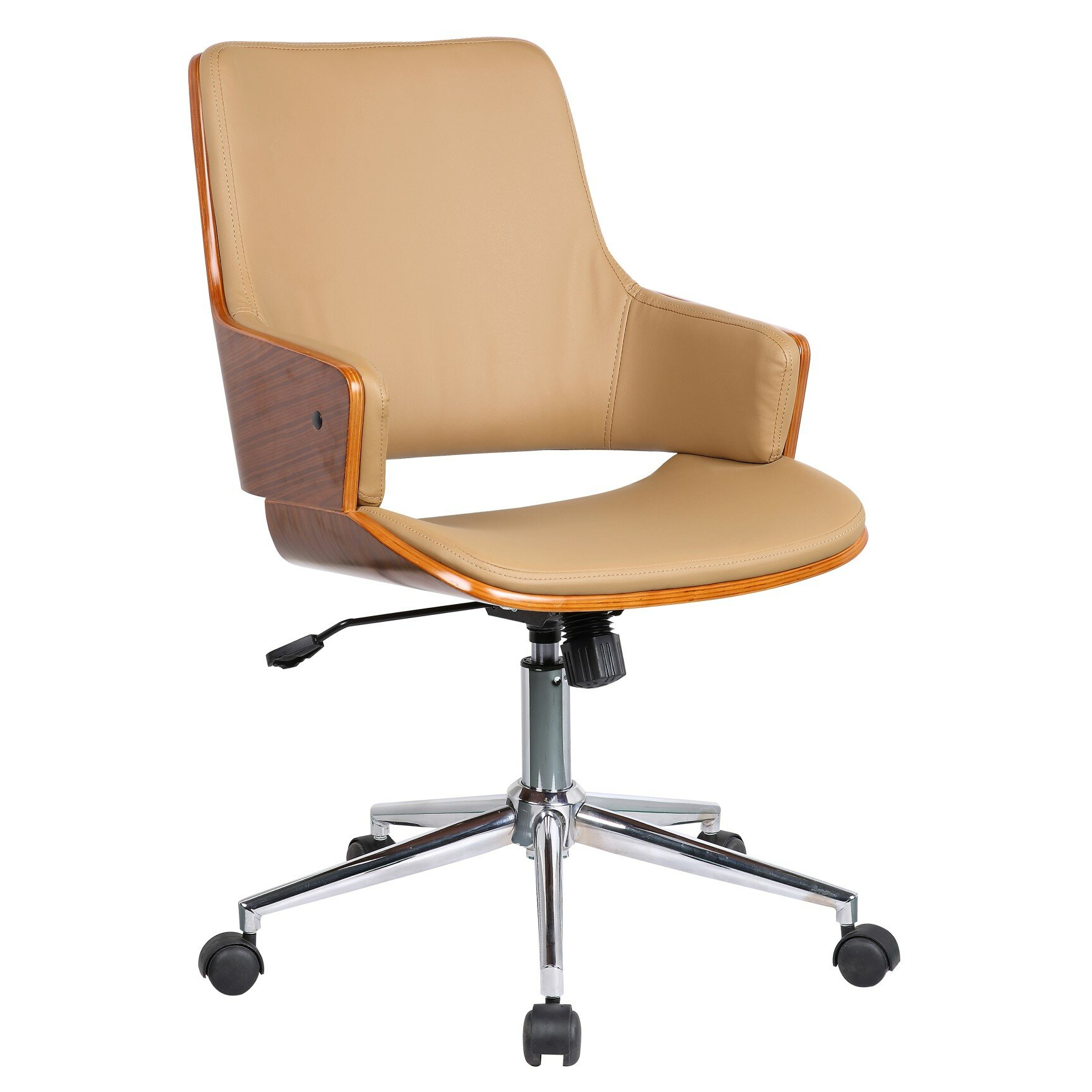 Porthos Home Solene High-Back Leather Office Chair With