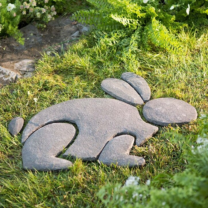 Wind weather decorative stone rabbit garden sign for Decorative rocks for sale near me