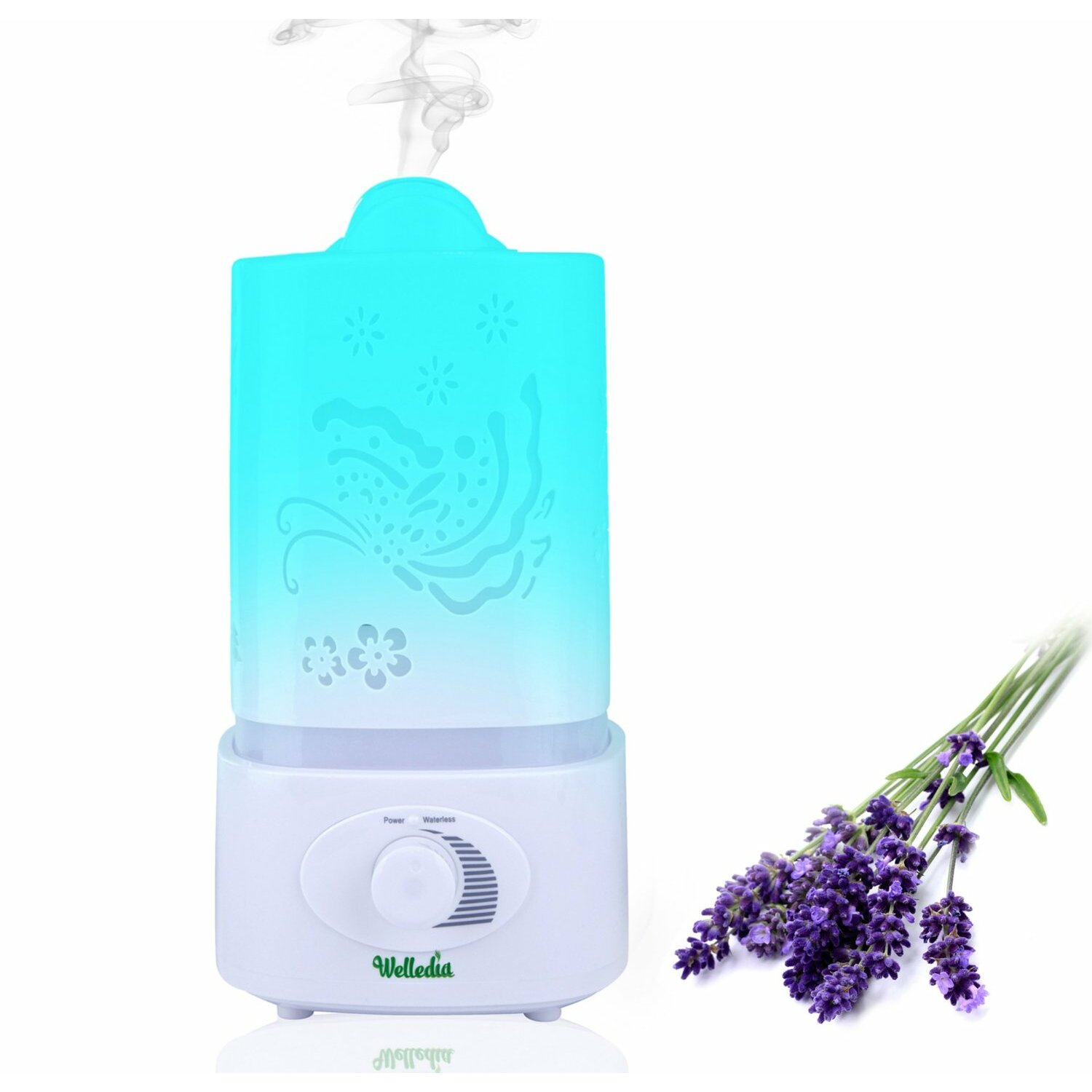 Essential Oil Diffusers with Humidifier and Night Light by Welledia #04C2C7