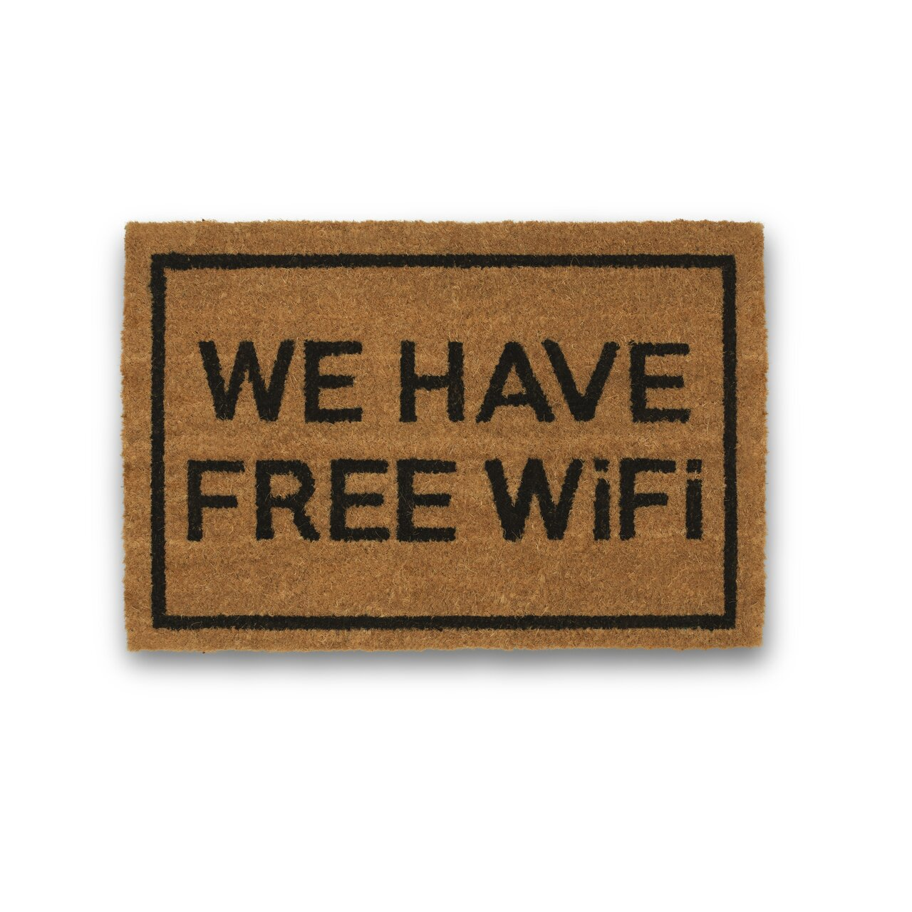 Clever doormats we have free wifi coir doormat wayfair - Clever doormats ...