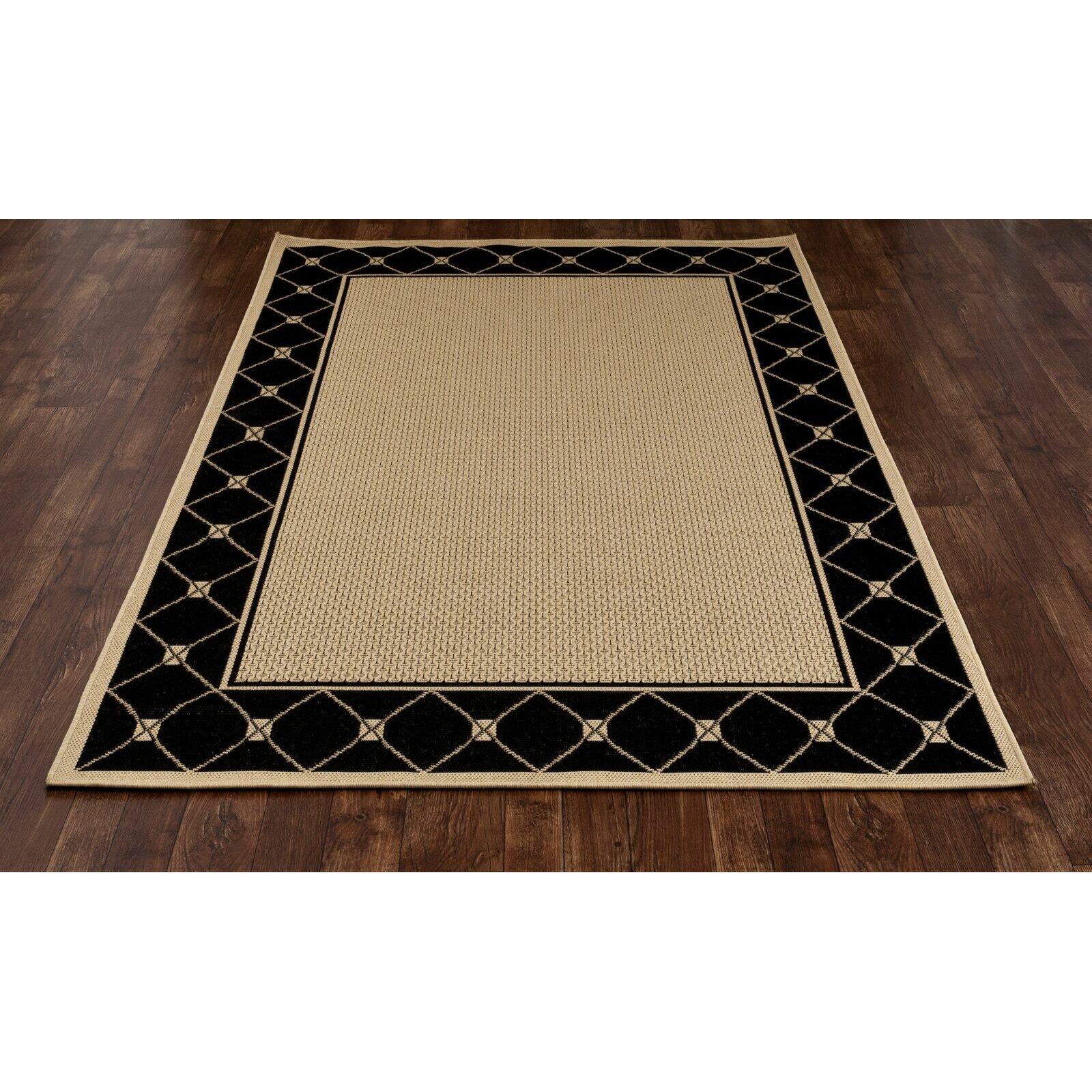 Art Carpet Plymouth Black Beige Indoor Outdoor Area Rug
