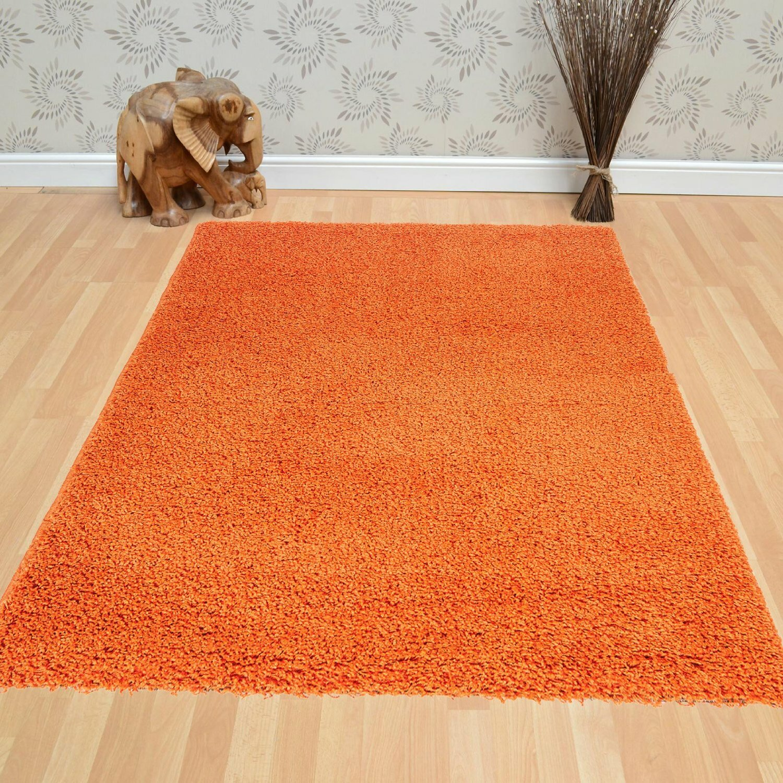 Berrnour Home Orange Area Rug