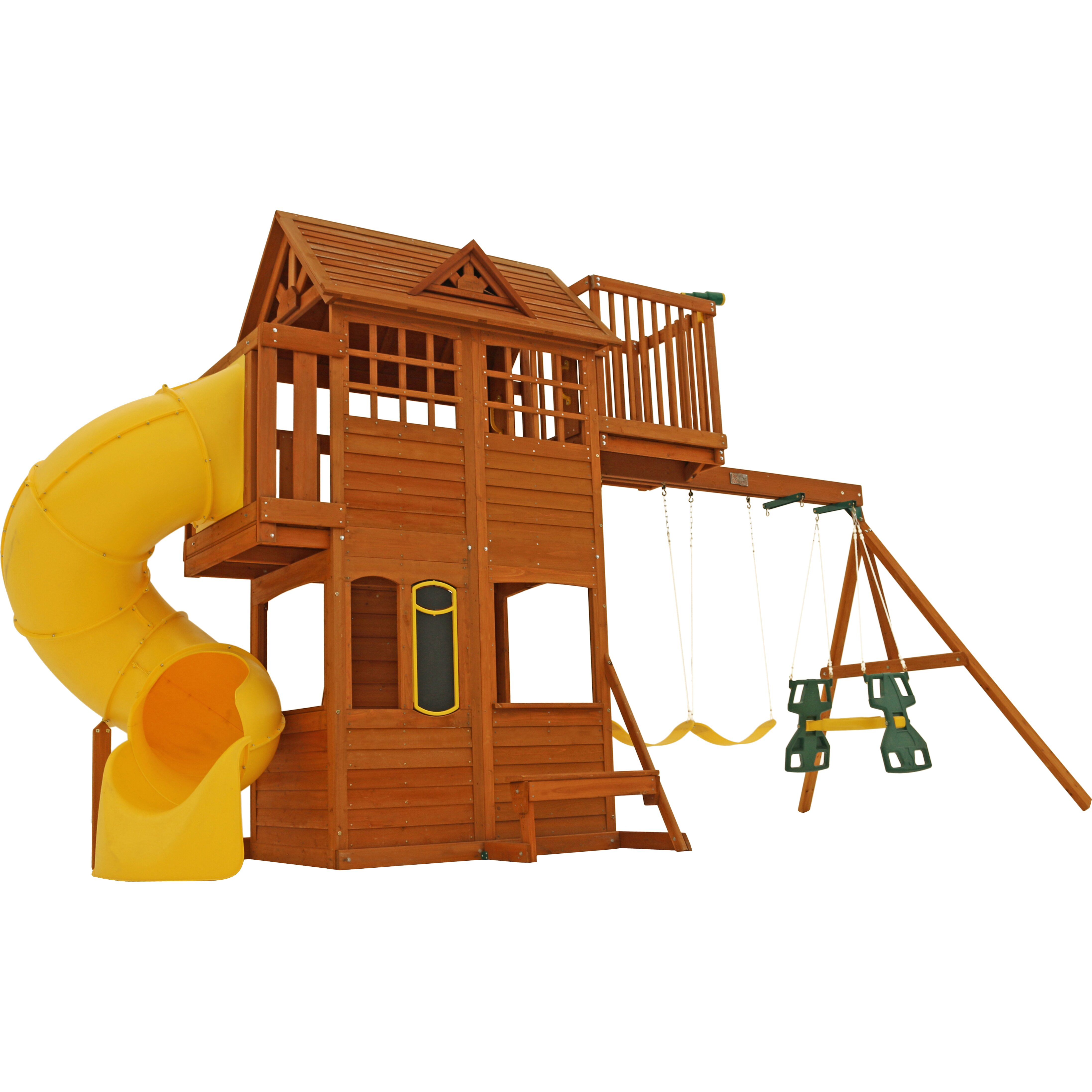 how to fix a wooden swing set