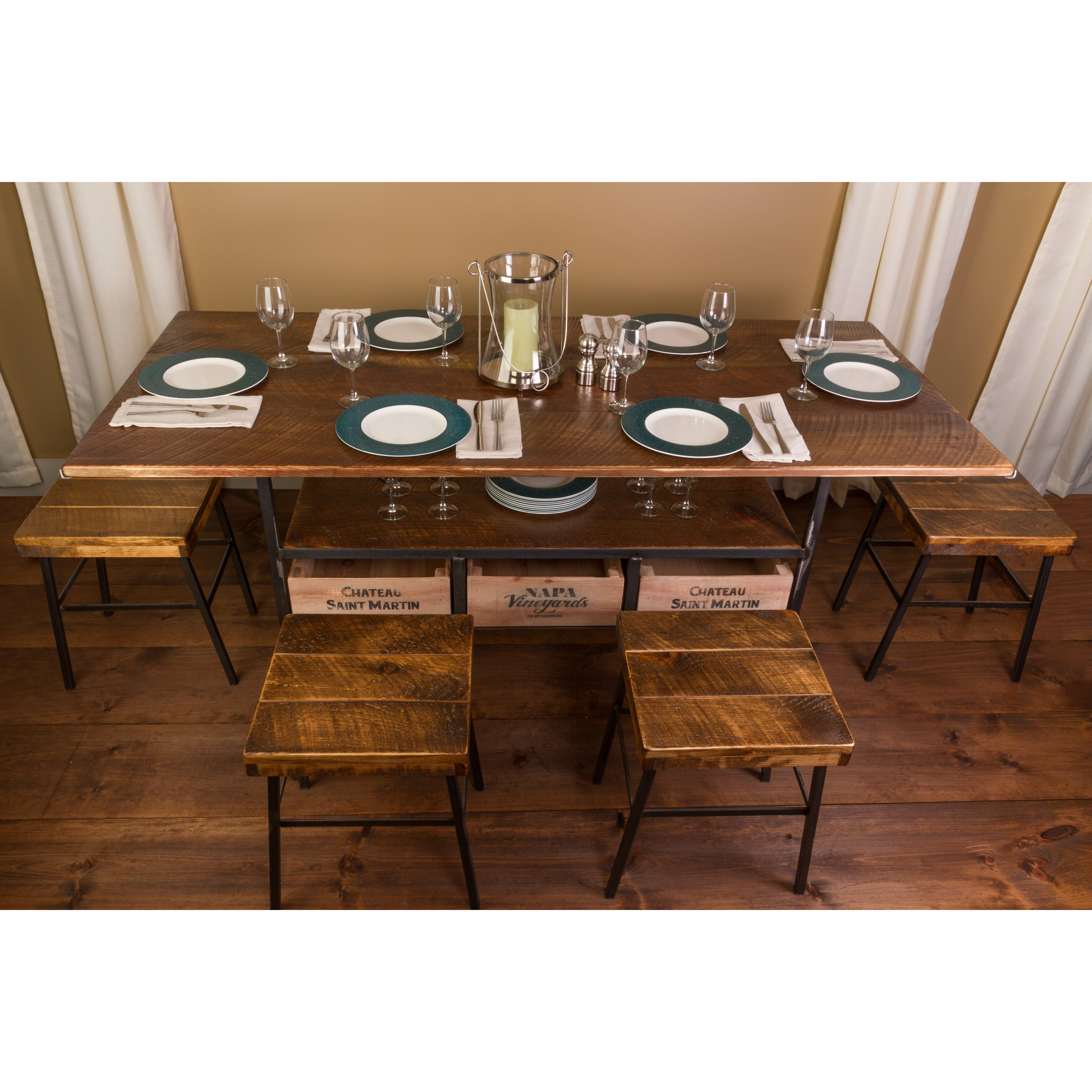 Farm Dining Tables: Vino Vintage Farm 7 Piece Dining Table