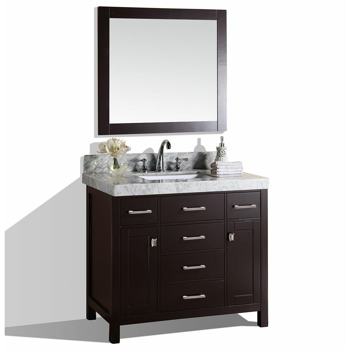 Pacificcollection malibu 41 single modern bathroom vanity - Contemporary bathroom vanity sets ...