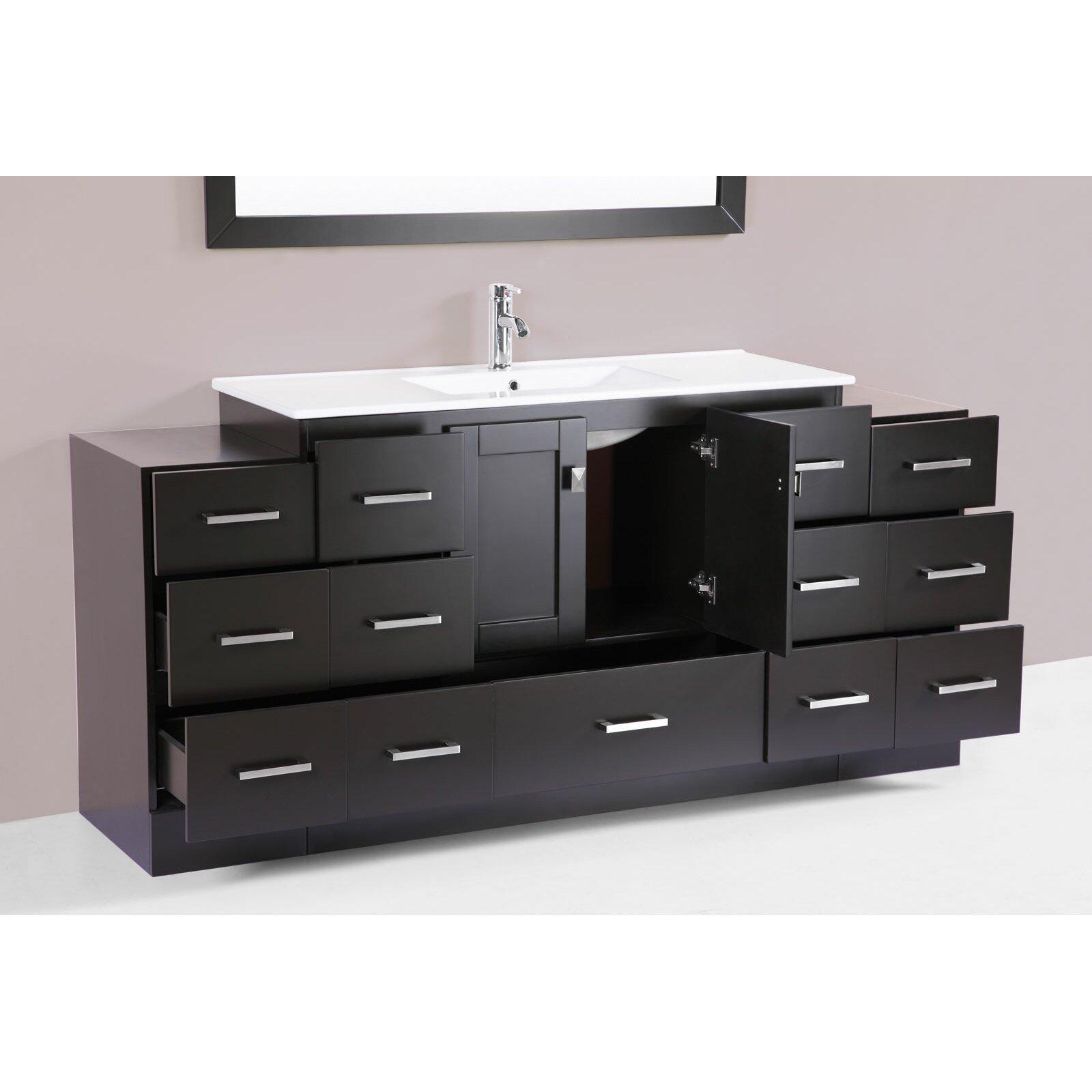 Pacificcollection Redondo 72 Single Modern Bathroom Vanity Set Wayfair