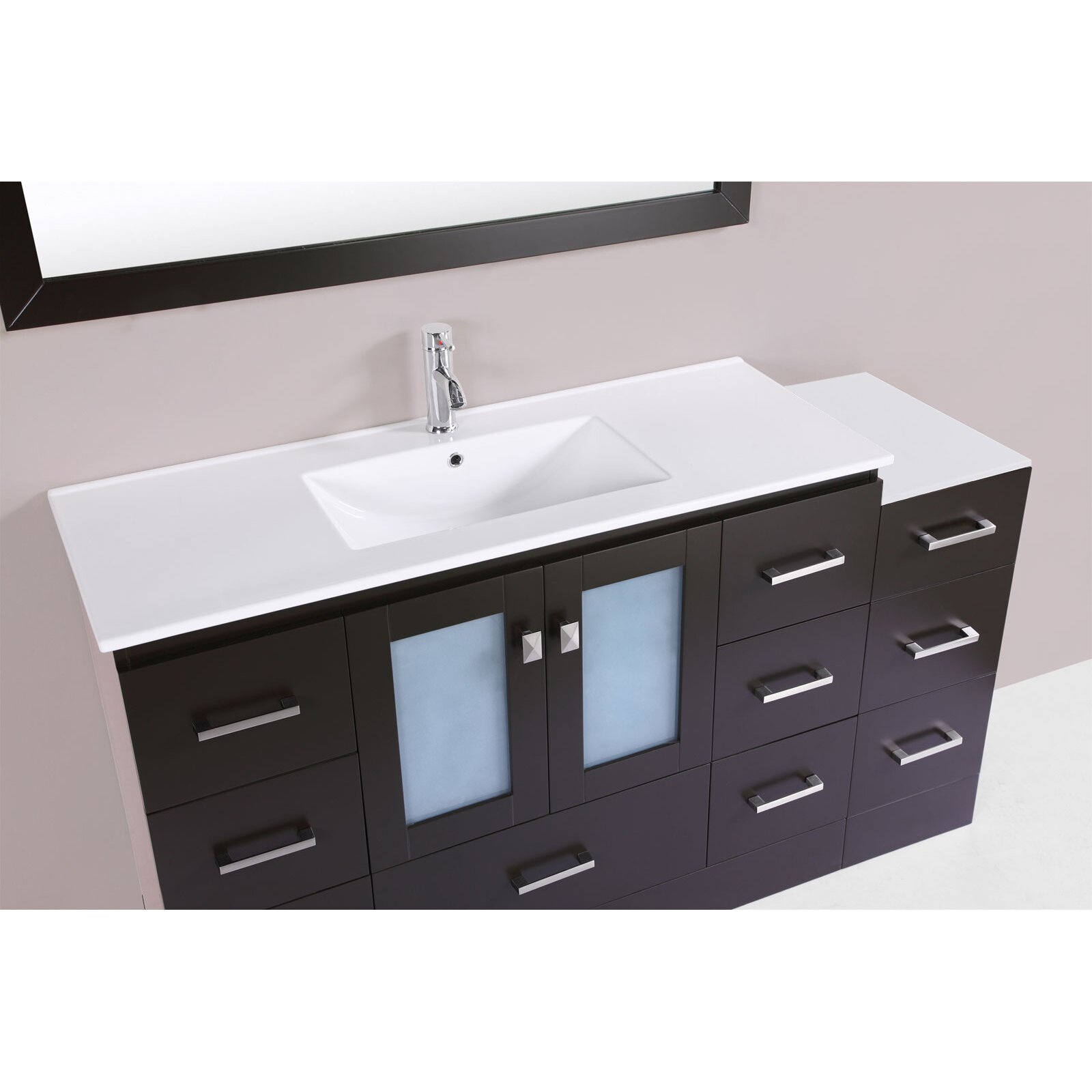 collection hermosa 60 single modern bathroom side cabinet vanity set