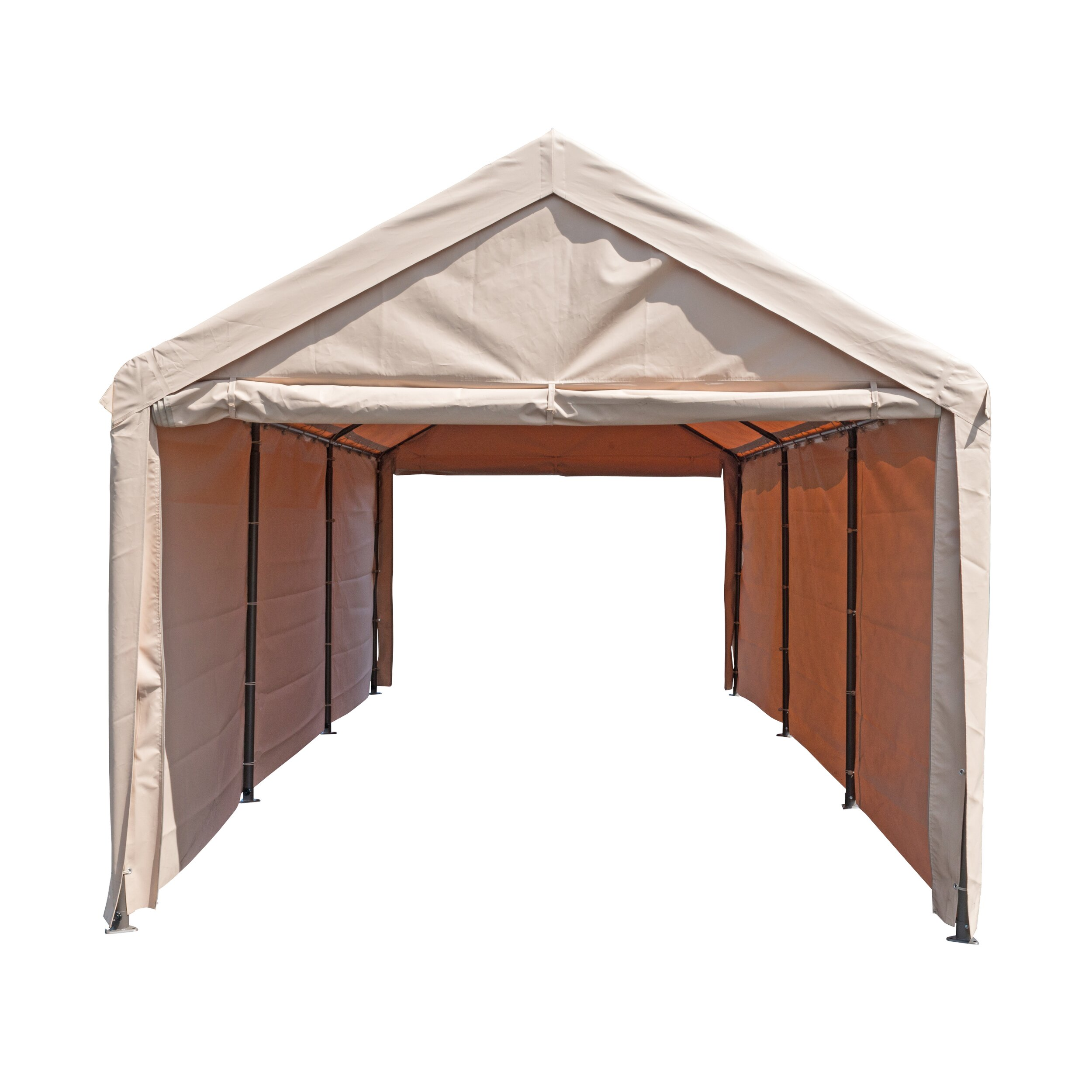 Enclosed Car Canopy 10x20 : Sorara™ usa ft w d car port wayfair