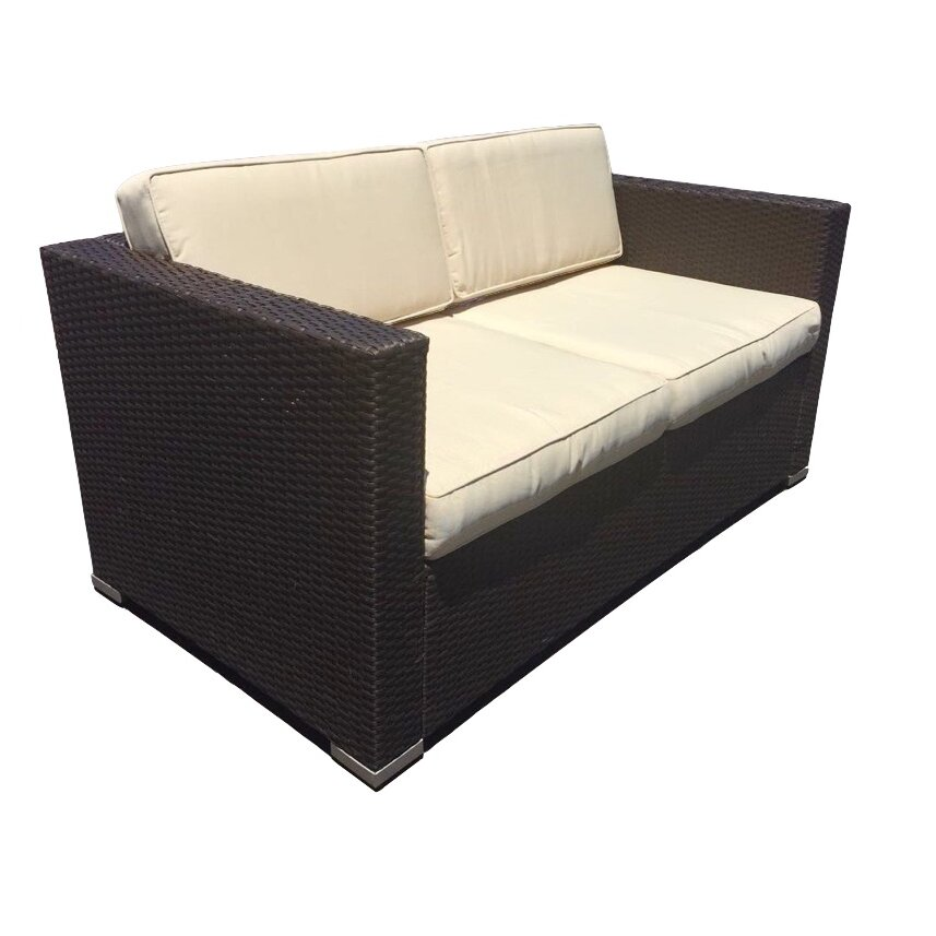 JB Patio Wicker 4 Piece Deep Seating Group With Cushions