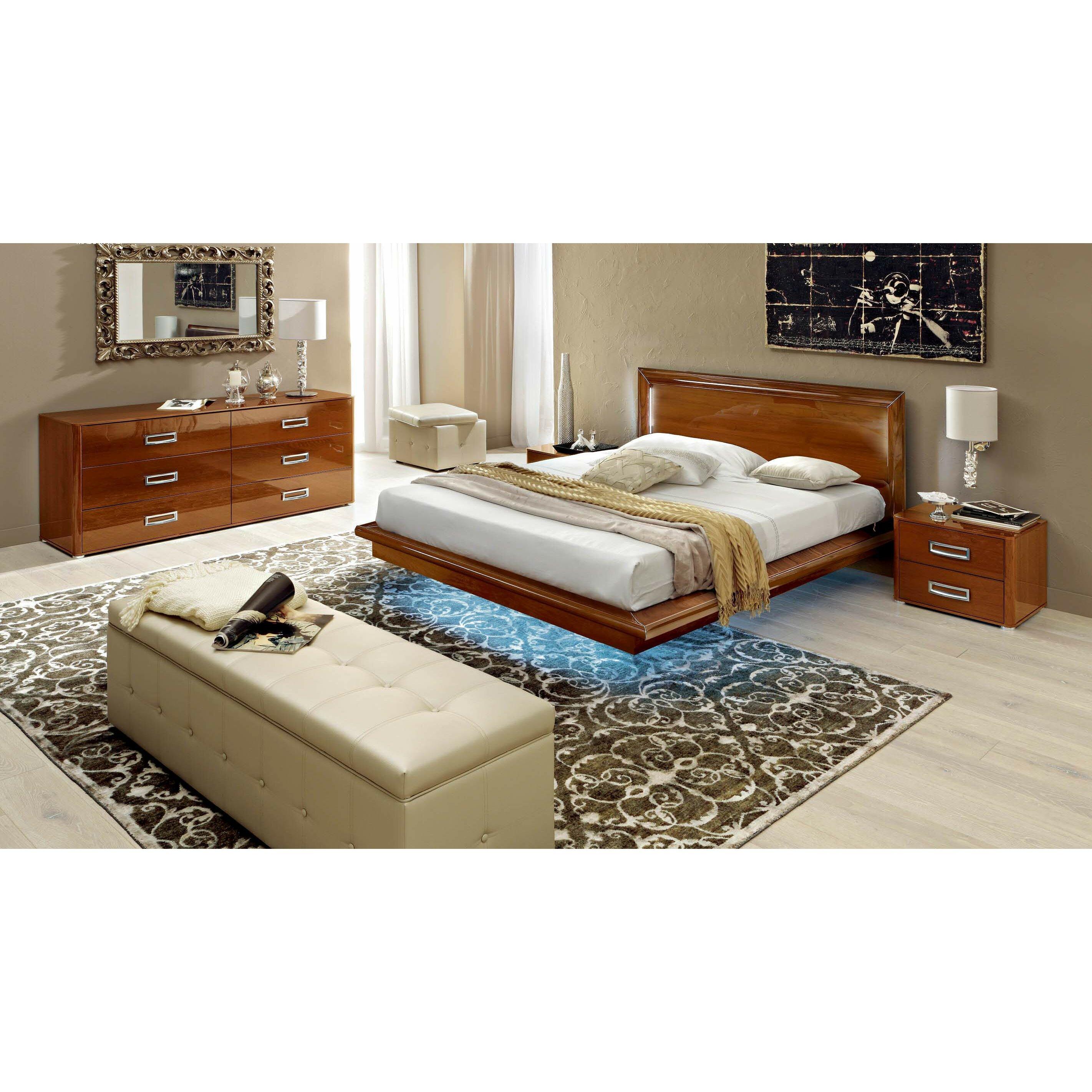 NociDesign Panel 3 Piece Bedroom Set
