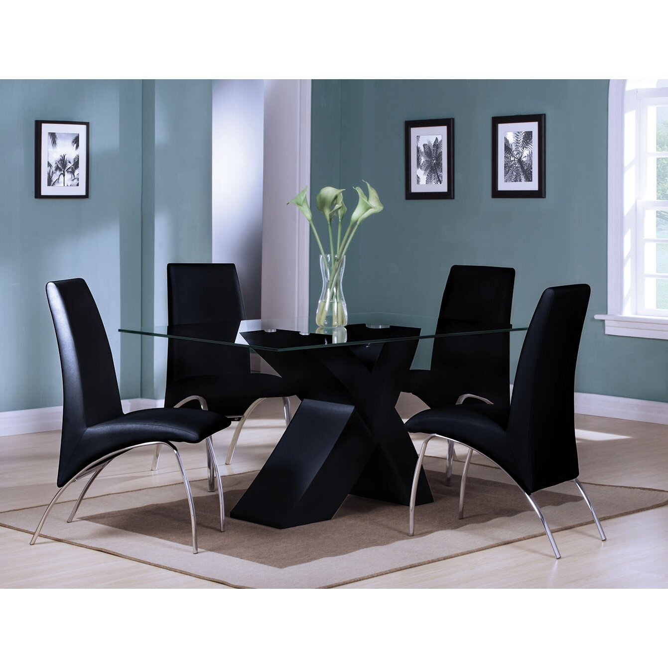 A j homes studio angelica 5 piece dining set - Angelica kitchen delivery ...