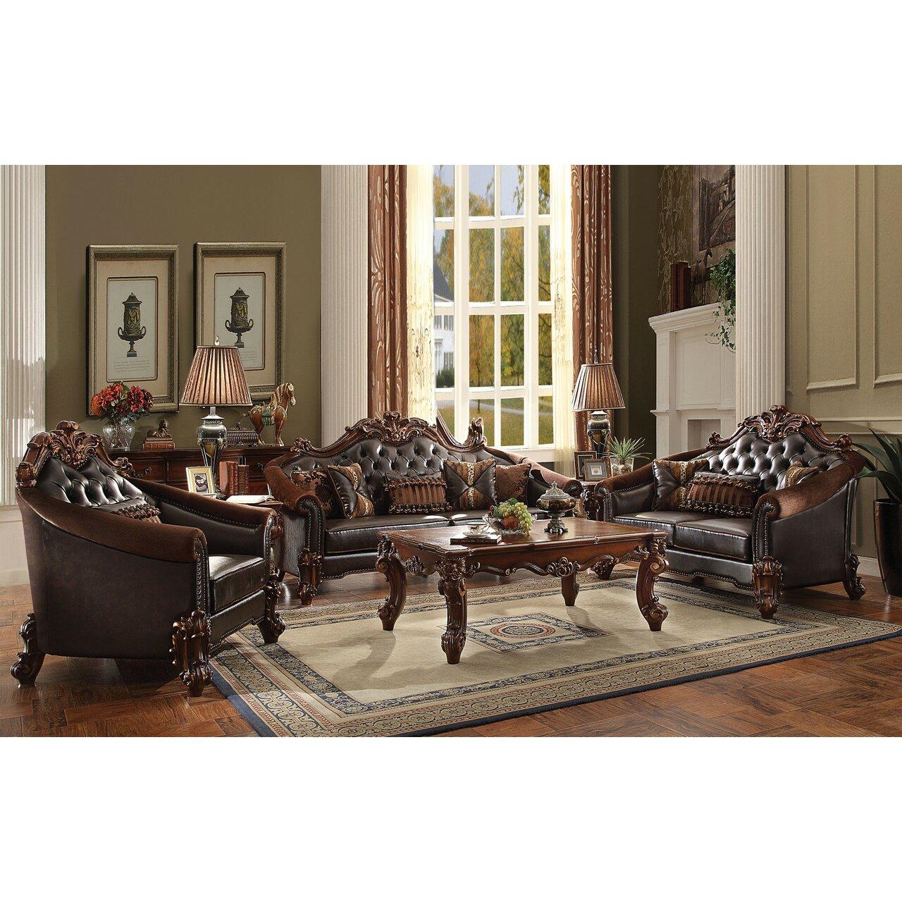 A j homes studio lee 3 piece living room set wayfair for 3 piece living room set