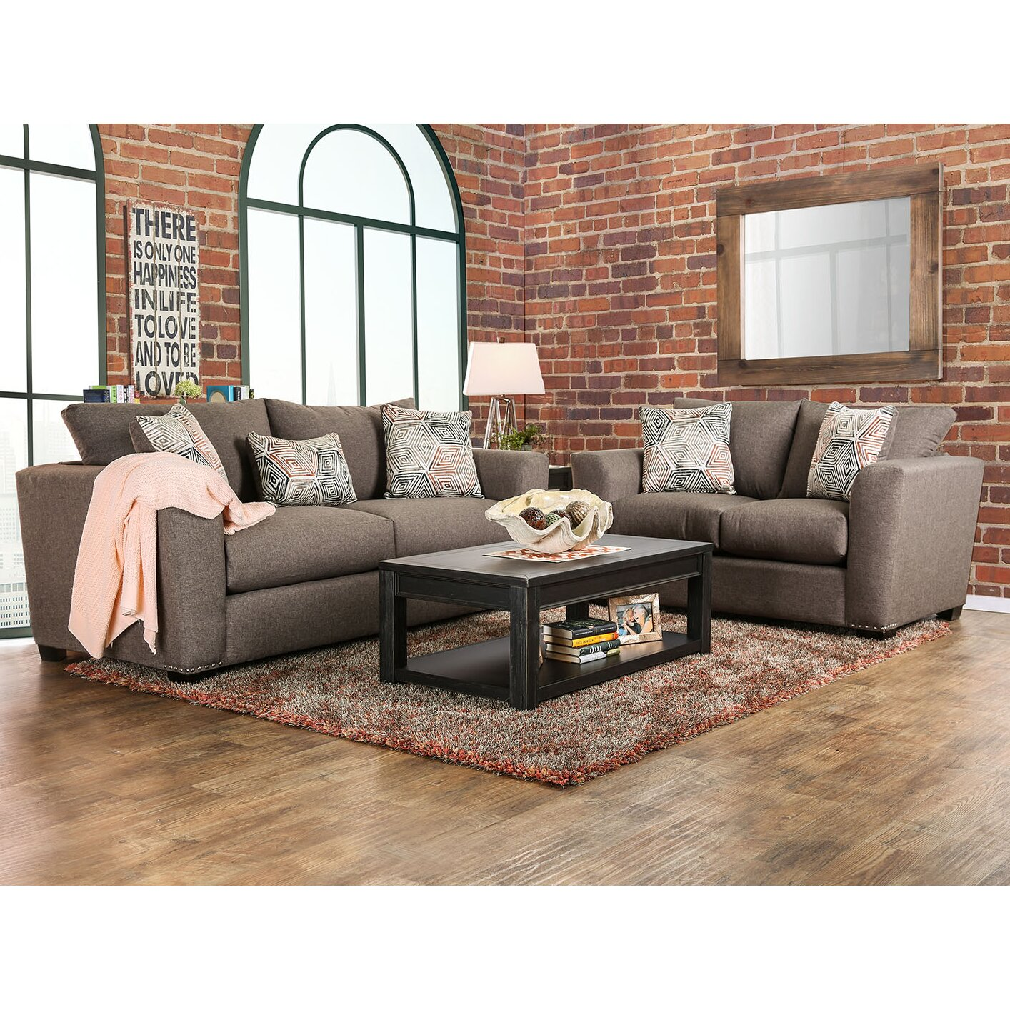 A j homes studio bensen 3 piece living room set wayfair for 3 piece living room set