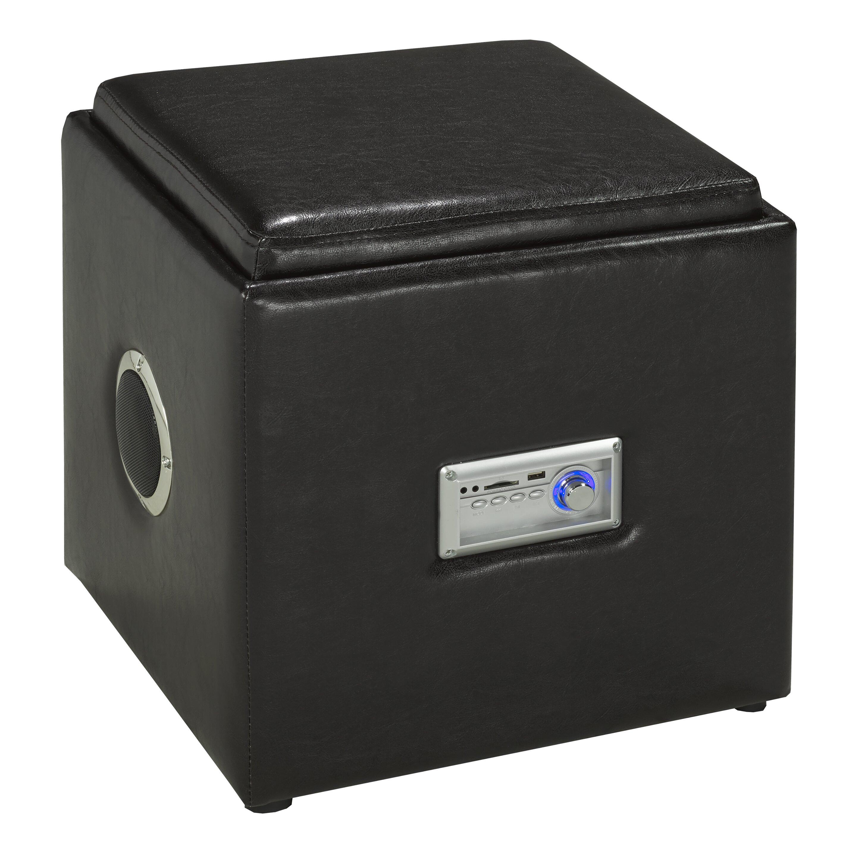 Brassex Storage And Bluetooth Audio Ottoman Wayfair Ca