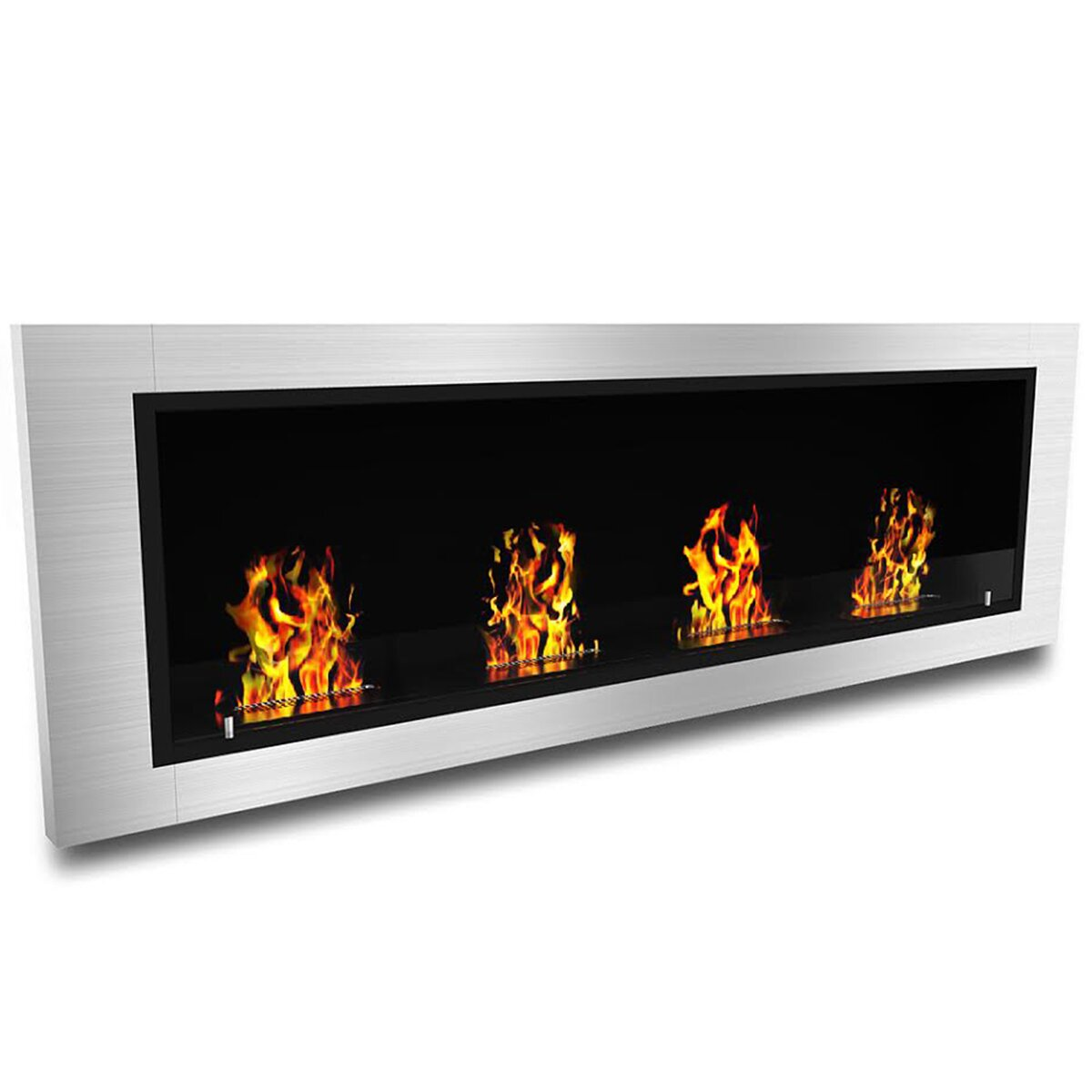 Elite Flame Luxe Ventless Wall Mount Bio Ethanol Fireplace Reviews Wayfair