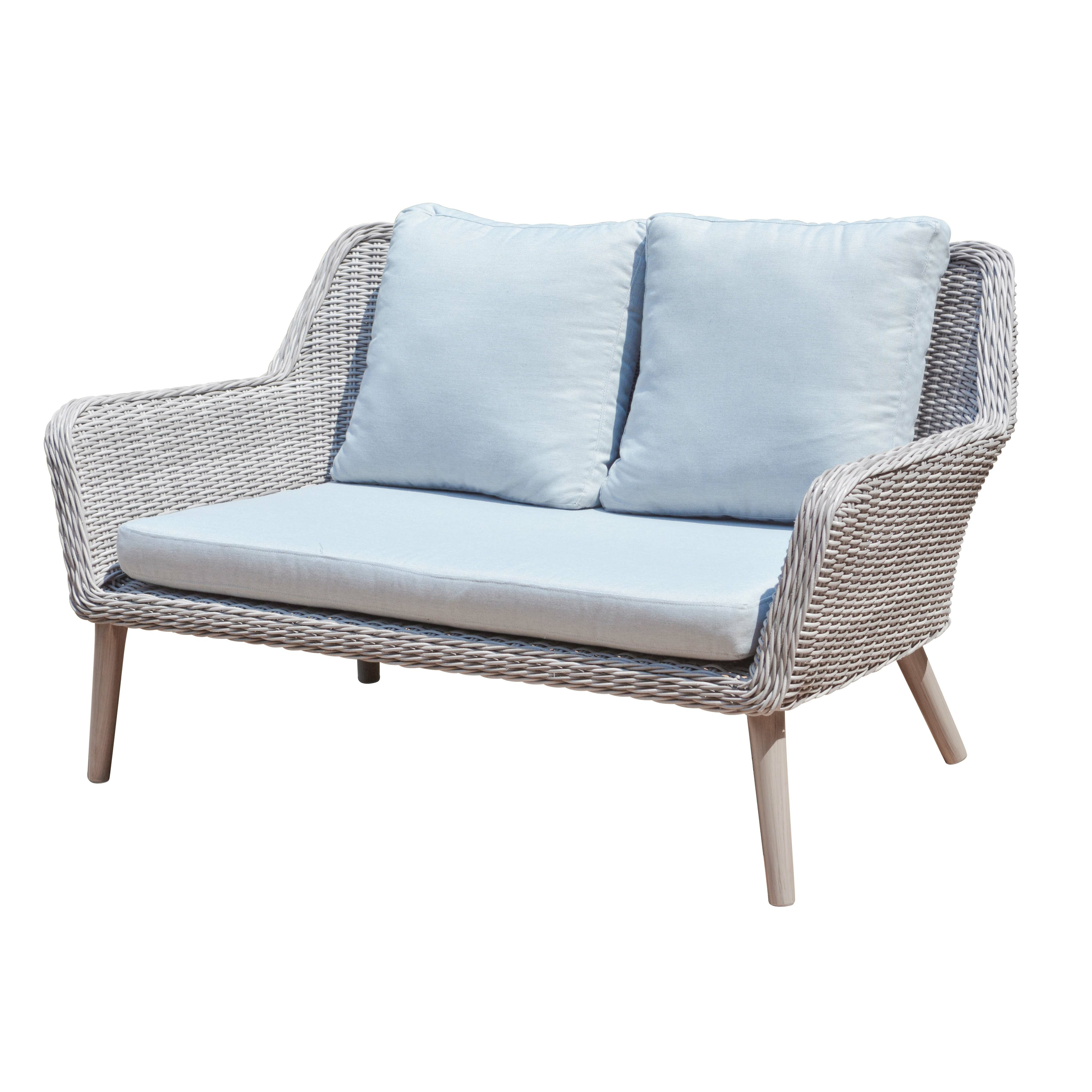 manopatio weimar outdoor wicker rattan 4 piece lounge seating group wayfair. Black Bedroom Furniture Sets. Home Design Ideas