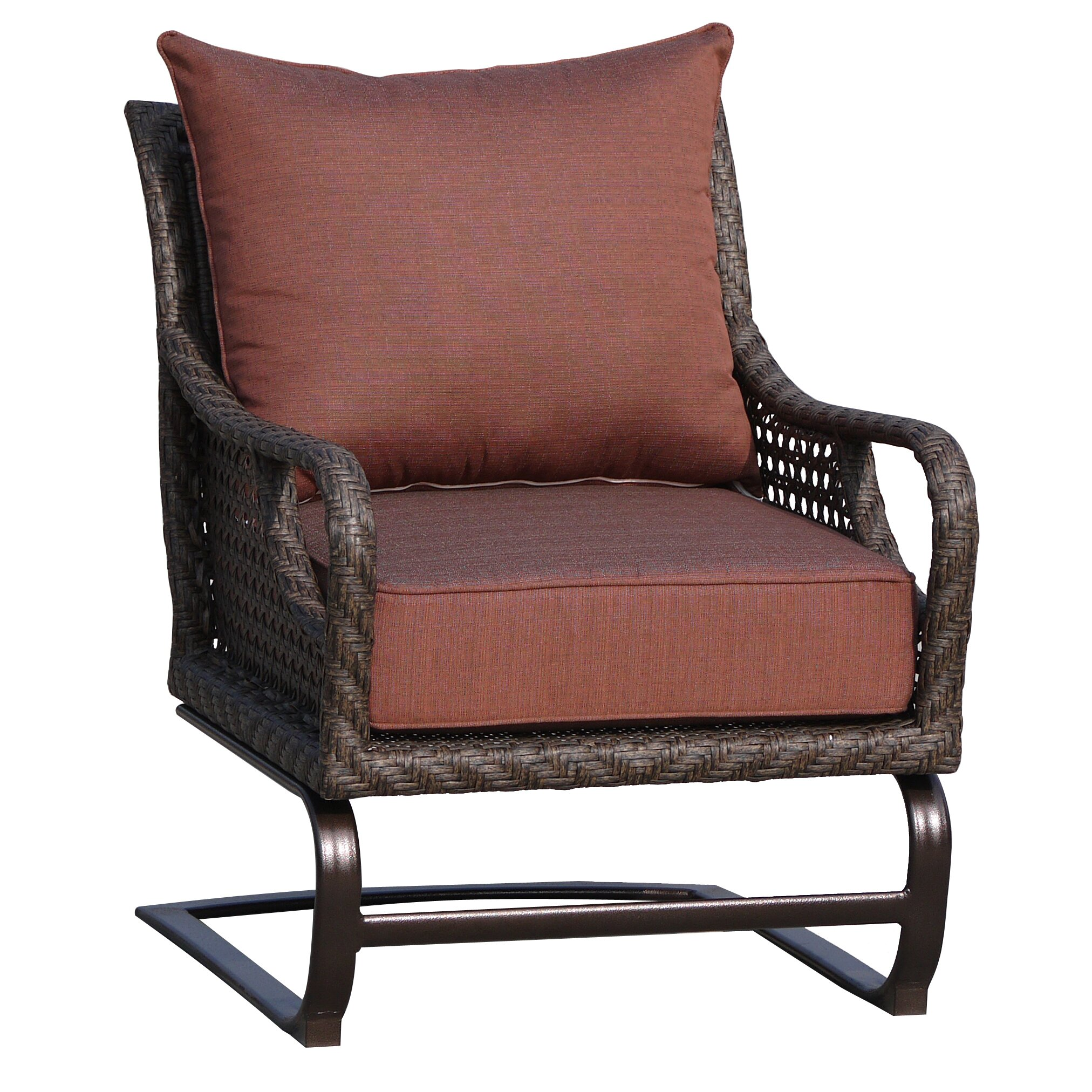 Worldwidewicker Largo Spring Club Chair Wayfair Ca
