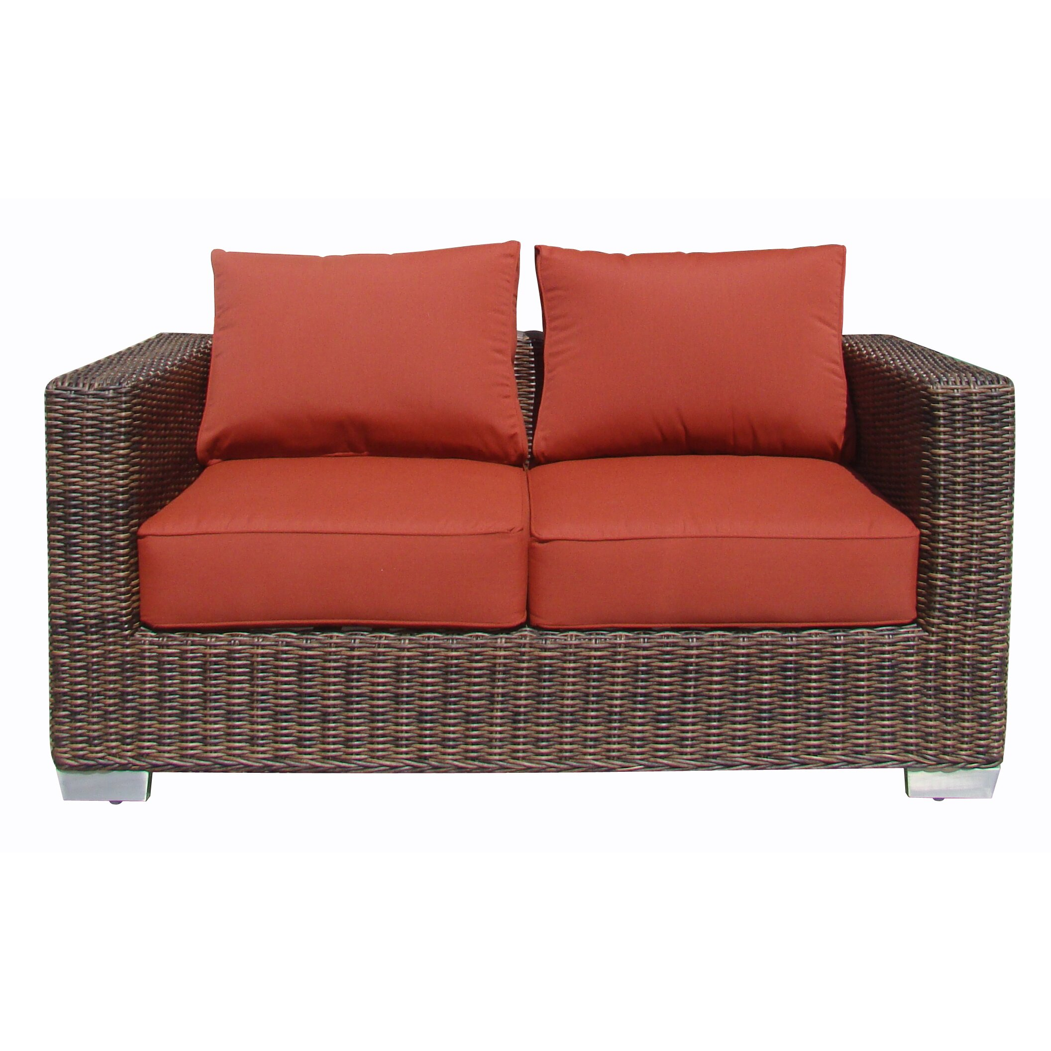 Worldwidewicker Madison Loveseat With Cushion Wayfair