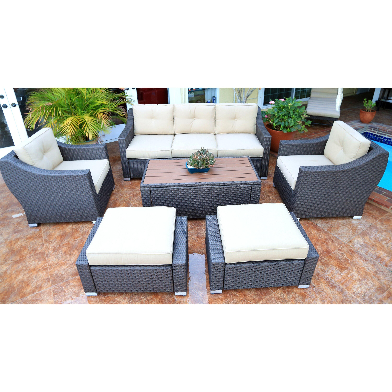 worldwidewicker tampa 6 piece deep seating group with cushion