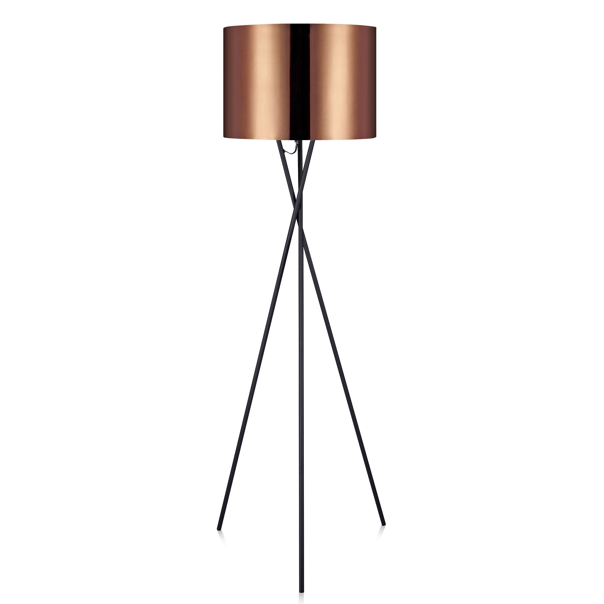 Versanora Cara 62 2 Tripod Floor Lamp Reviews Wayfair