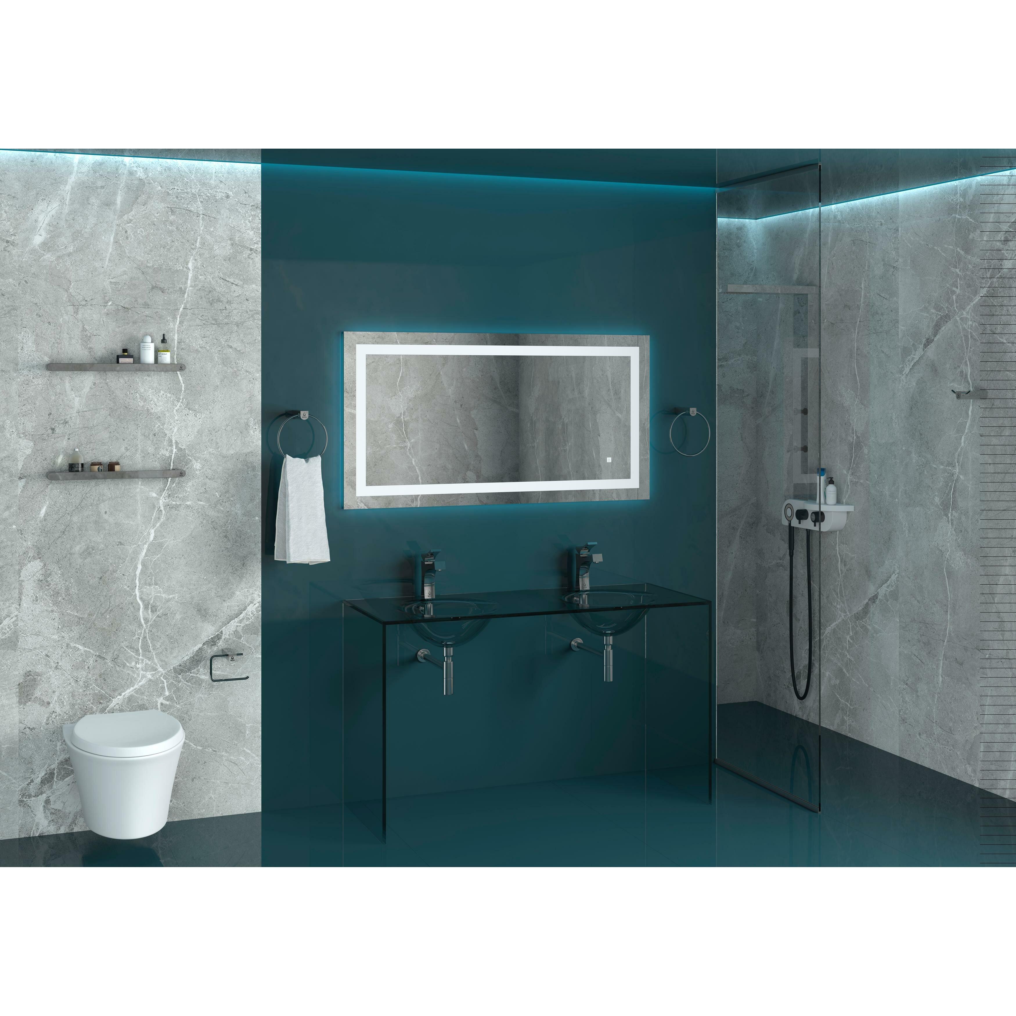Nezza 5 piece bathroom hardware set wayfair for Bathroom 5 piece set