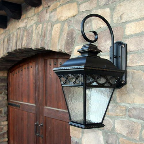 Outdoor Wall Light Decor : Y Decor Cheri 1 Light Outdoor Wall Lantern & Reviews Wayfair