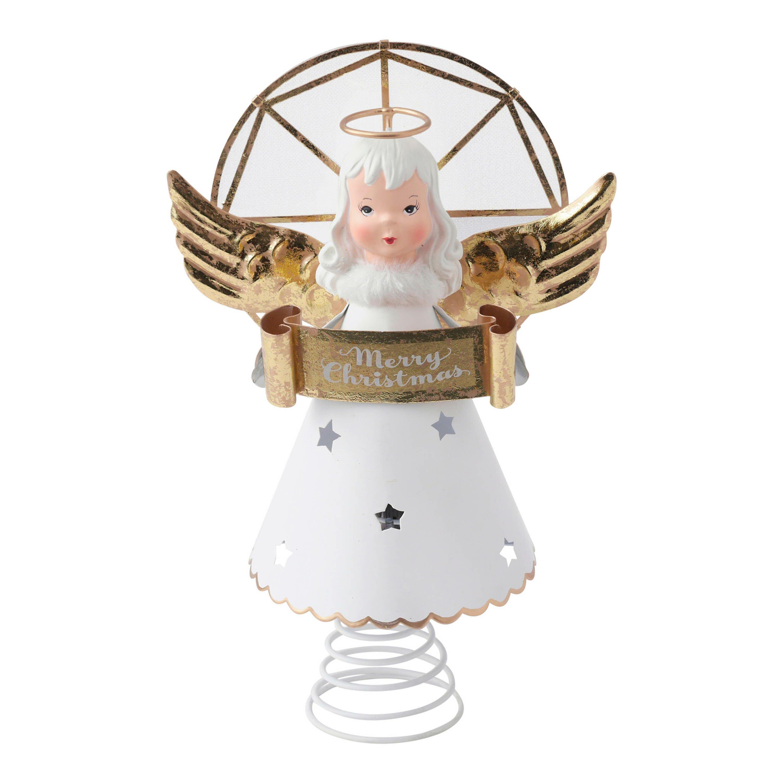 hallmark home gifts vintage inspired angel tree topper with light reviews wayfair. Black Bedroom Furniture Sets. Home Design Ideas