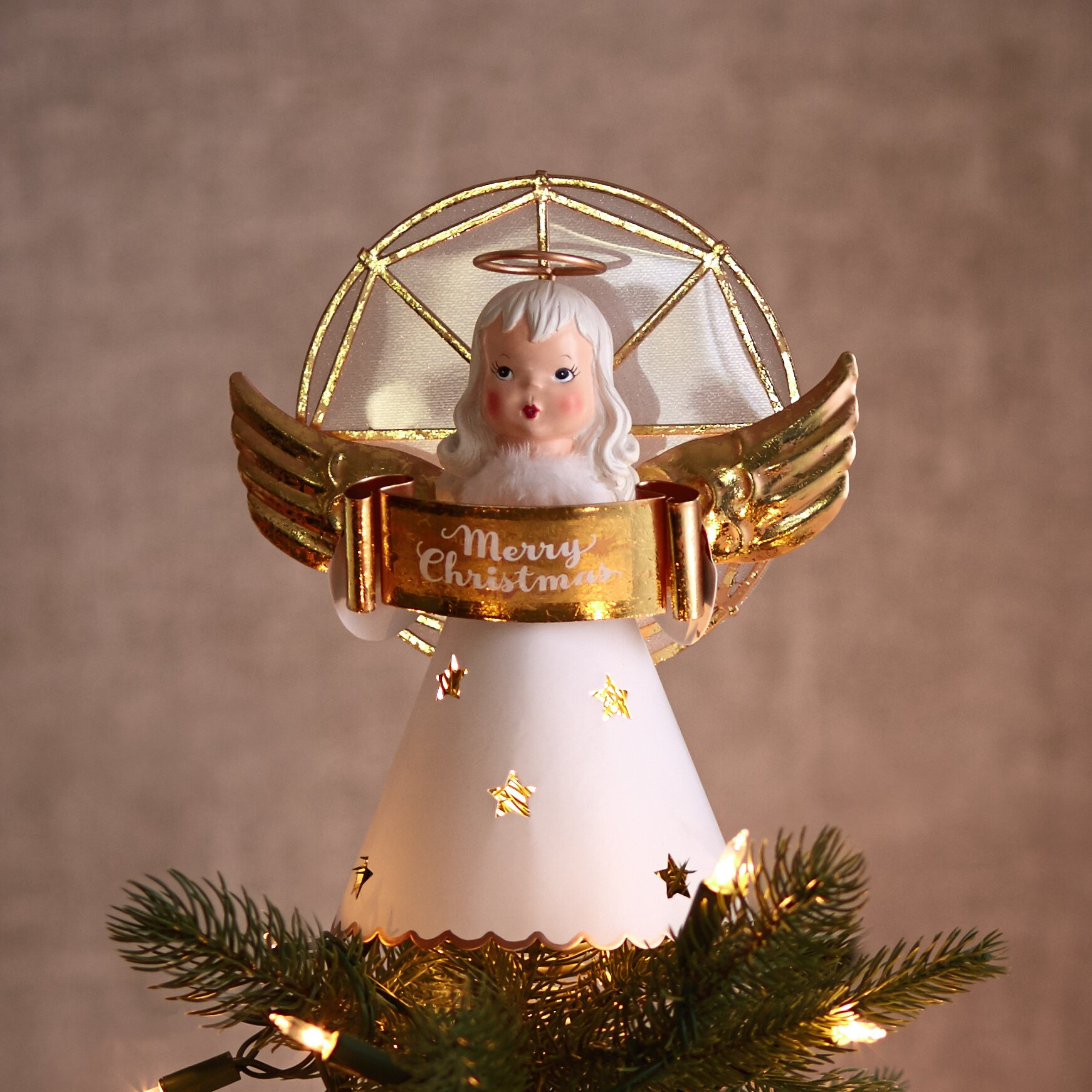 Hallmark Home & Gifts Vintage Inspired Angel Tree Topper ...