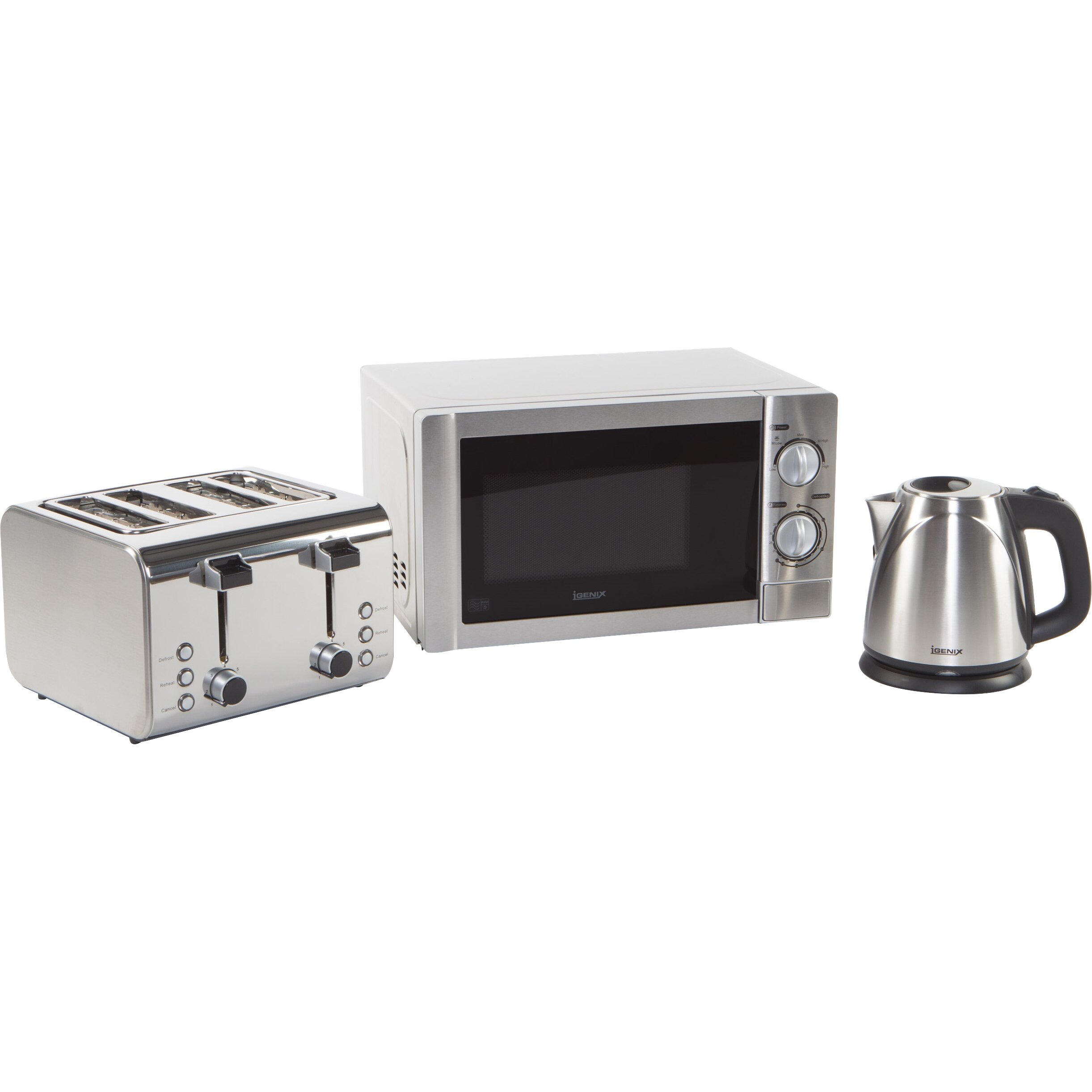 Microwave And Toaster In 1 ~ Igenix l w countertop microwave with kettle and