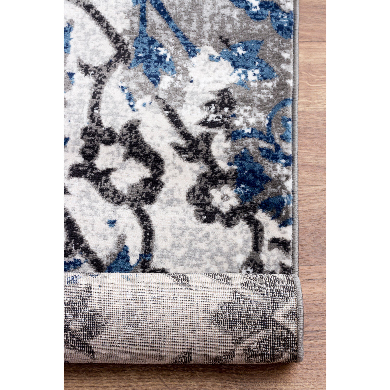 super area rugs artifact blue beige gray area rug wayfair. Black Bedroom Furniture Sets. Home Design Ideas