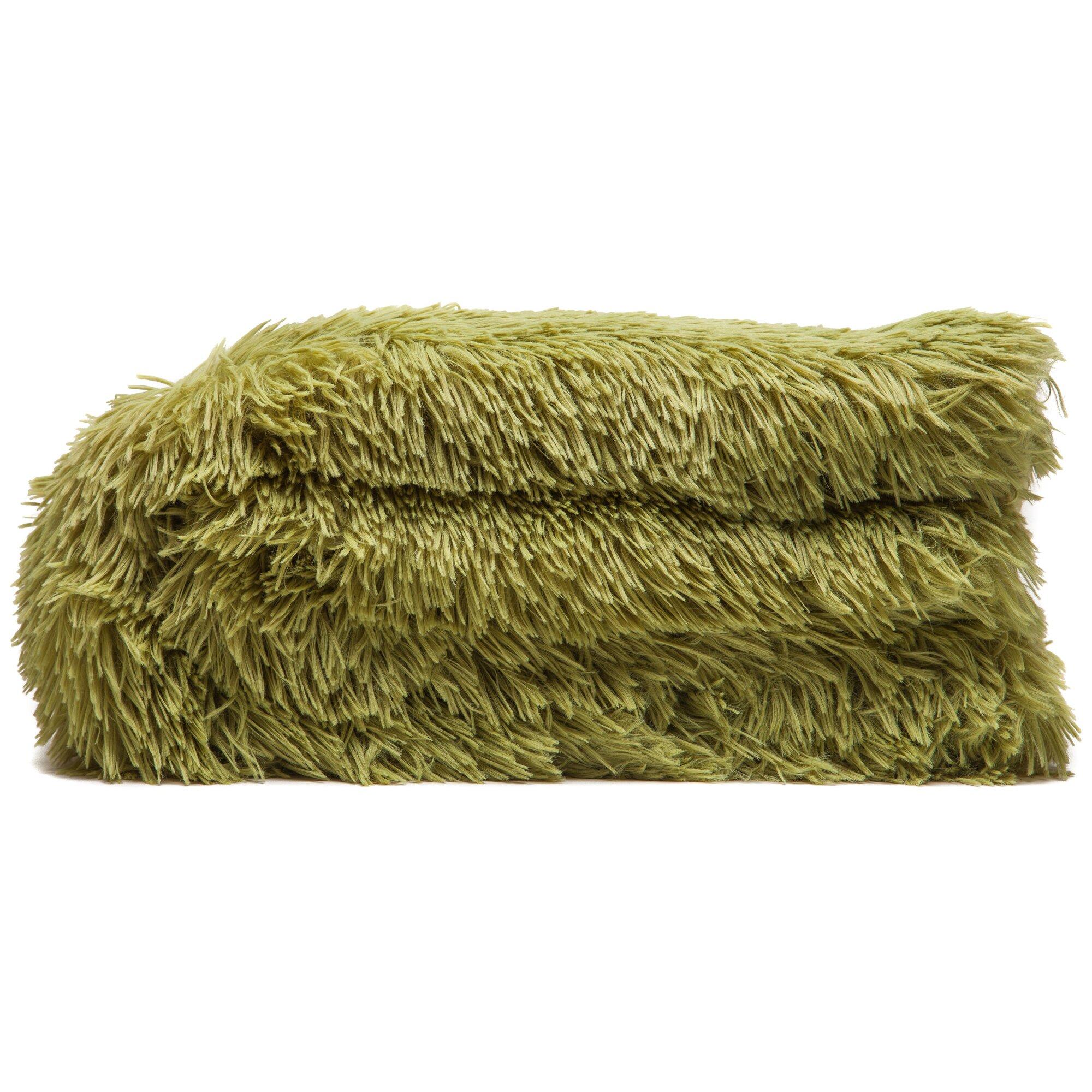 Chanasya super shaggy elegent sherpa long fur throw for Sherpa blanket