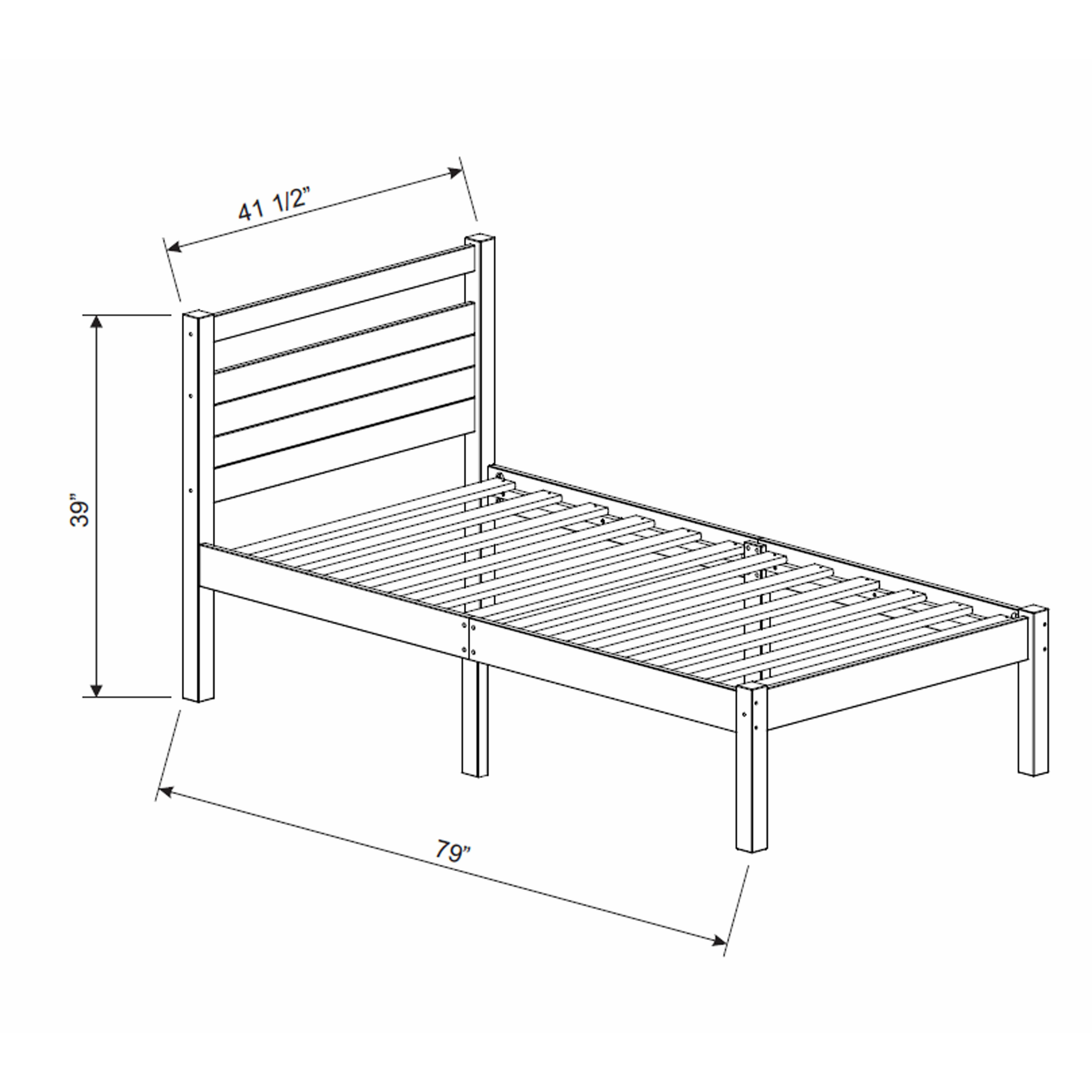 Marvelous photograph of 100%2525 Solid Wood Bronx Twin Bed in a Box 263.jpg with #7E614D color and 8000x8000 pixels