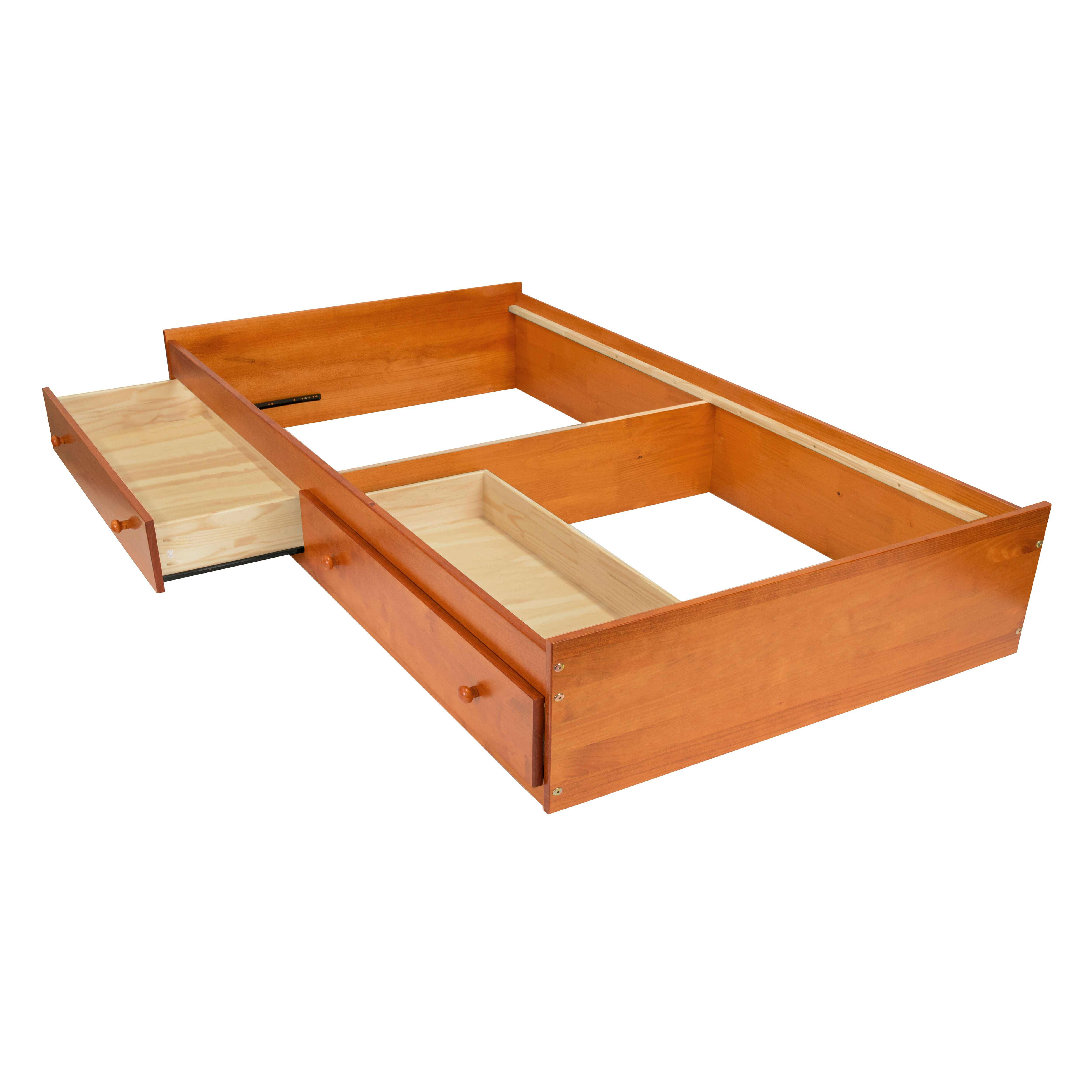 Kansas Solid Wood Full Size Storage Bed