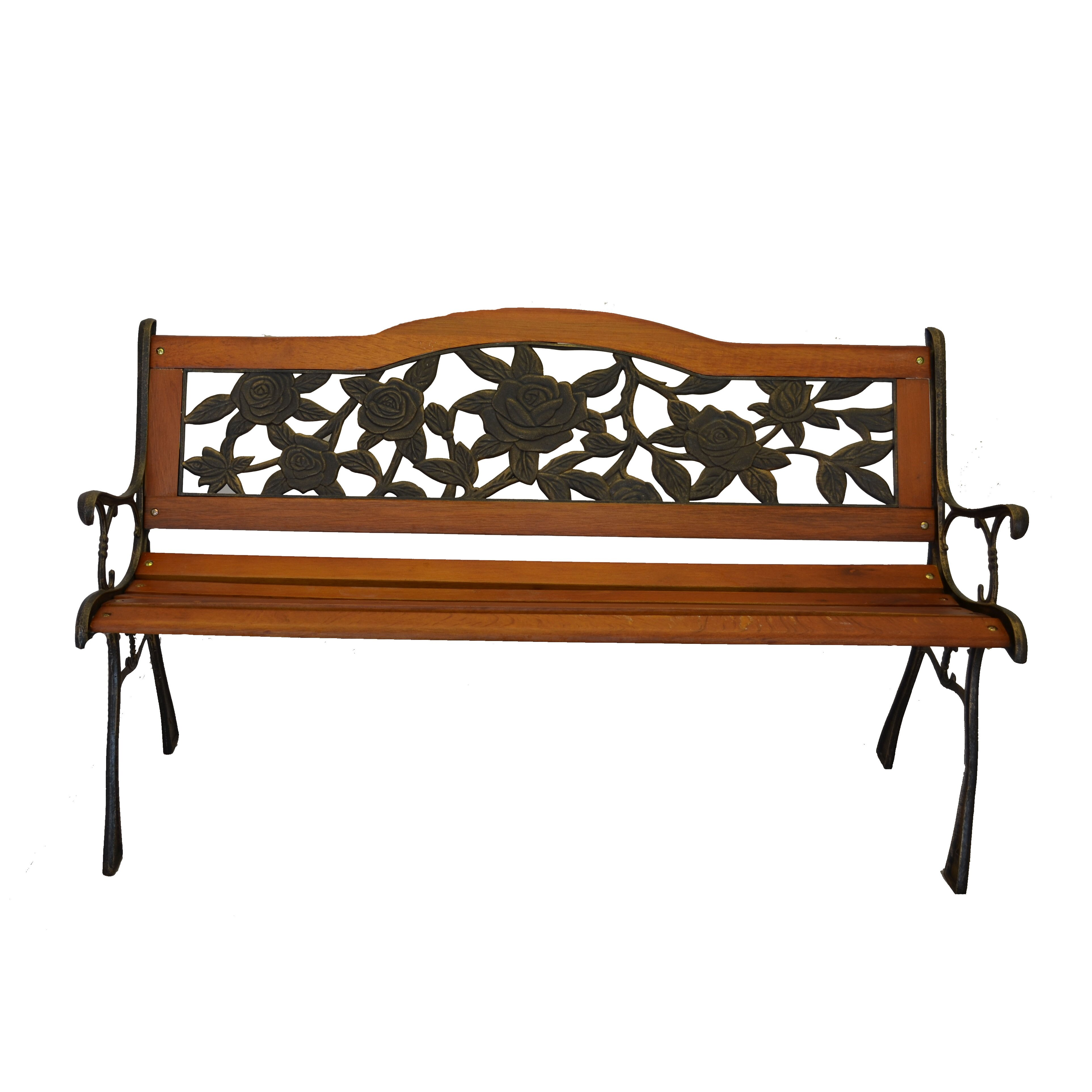 Piersurplus Rose Bloom Cast Iron Park Bench Reviews Wayfair