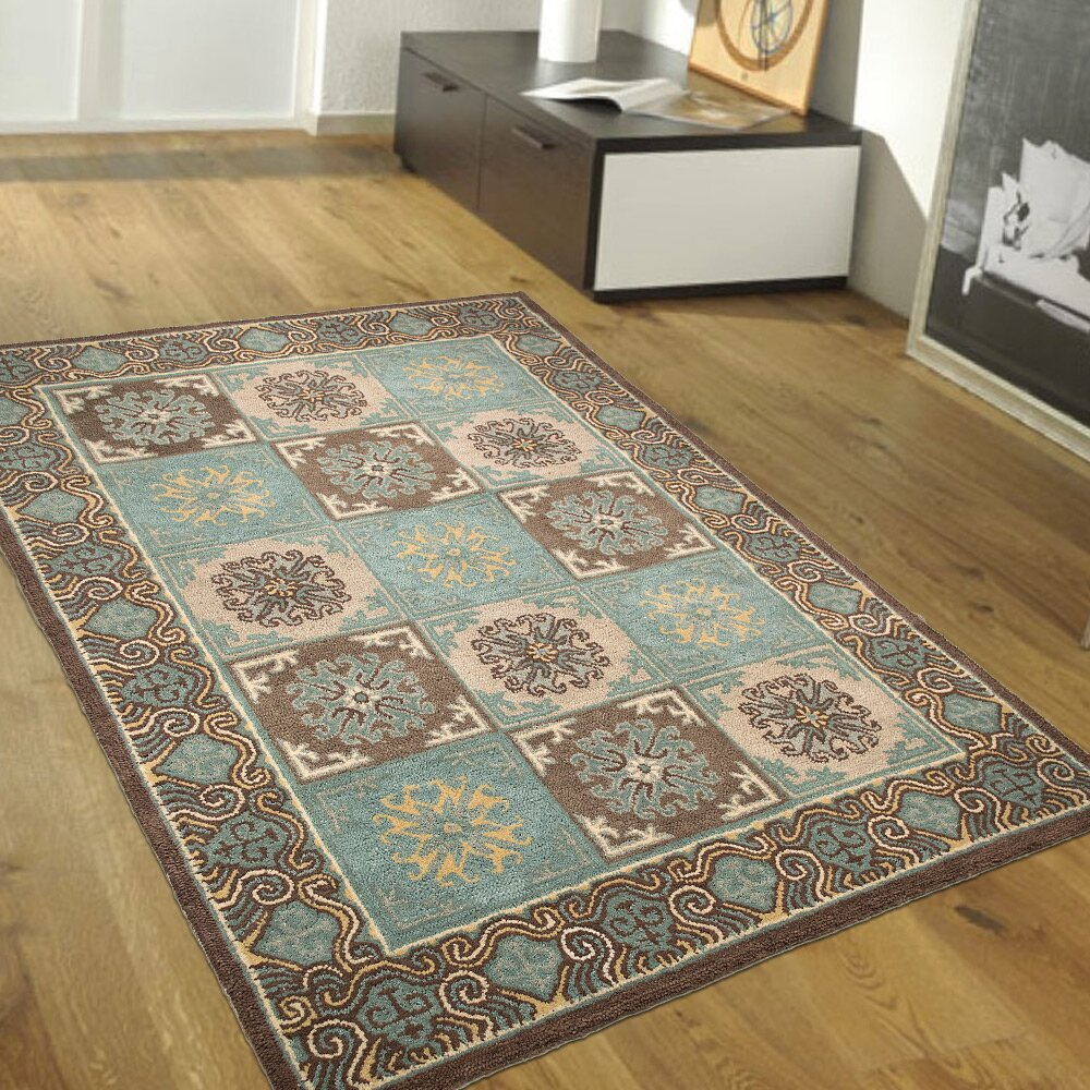 AllStar Rugs Handmade Blue/Brown Area Rugs & Reviews
