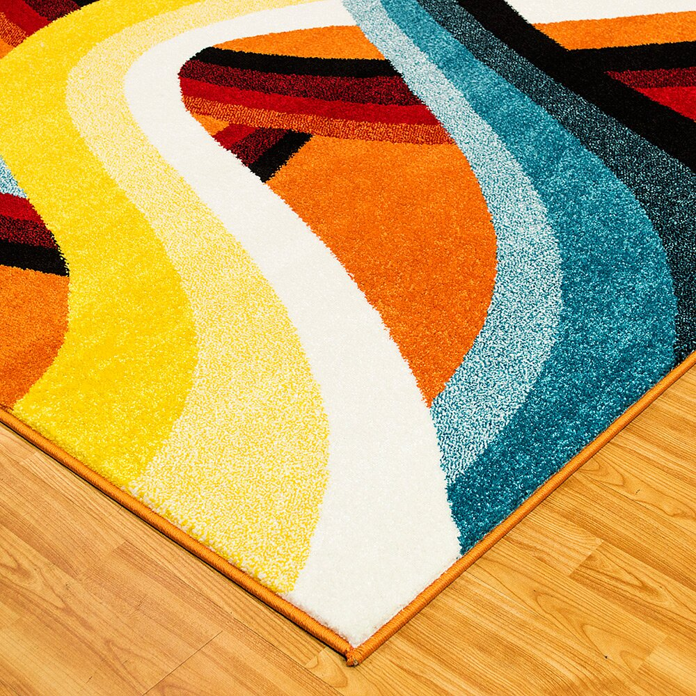 Allstar Rugs Yellow Orange Area Rug Amp Reviews Wayfair Ca