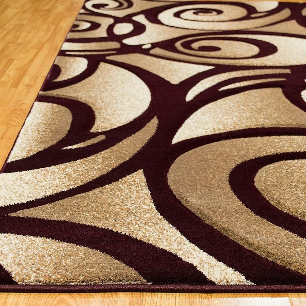 allstar rugs evolution swirl brown area rug wayfair