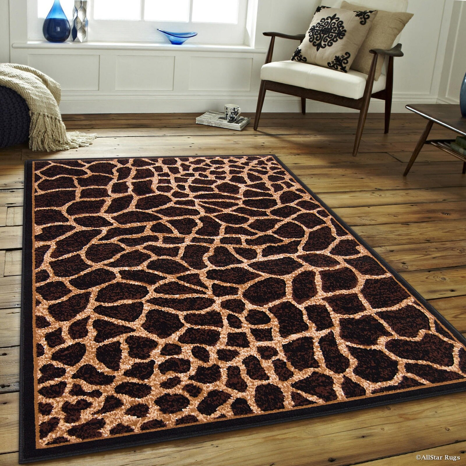 Allstar Rugs Hand Tufted Brown Beige Area Rug Amp Reviews