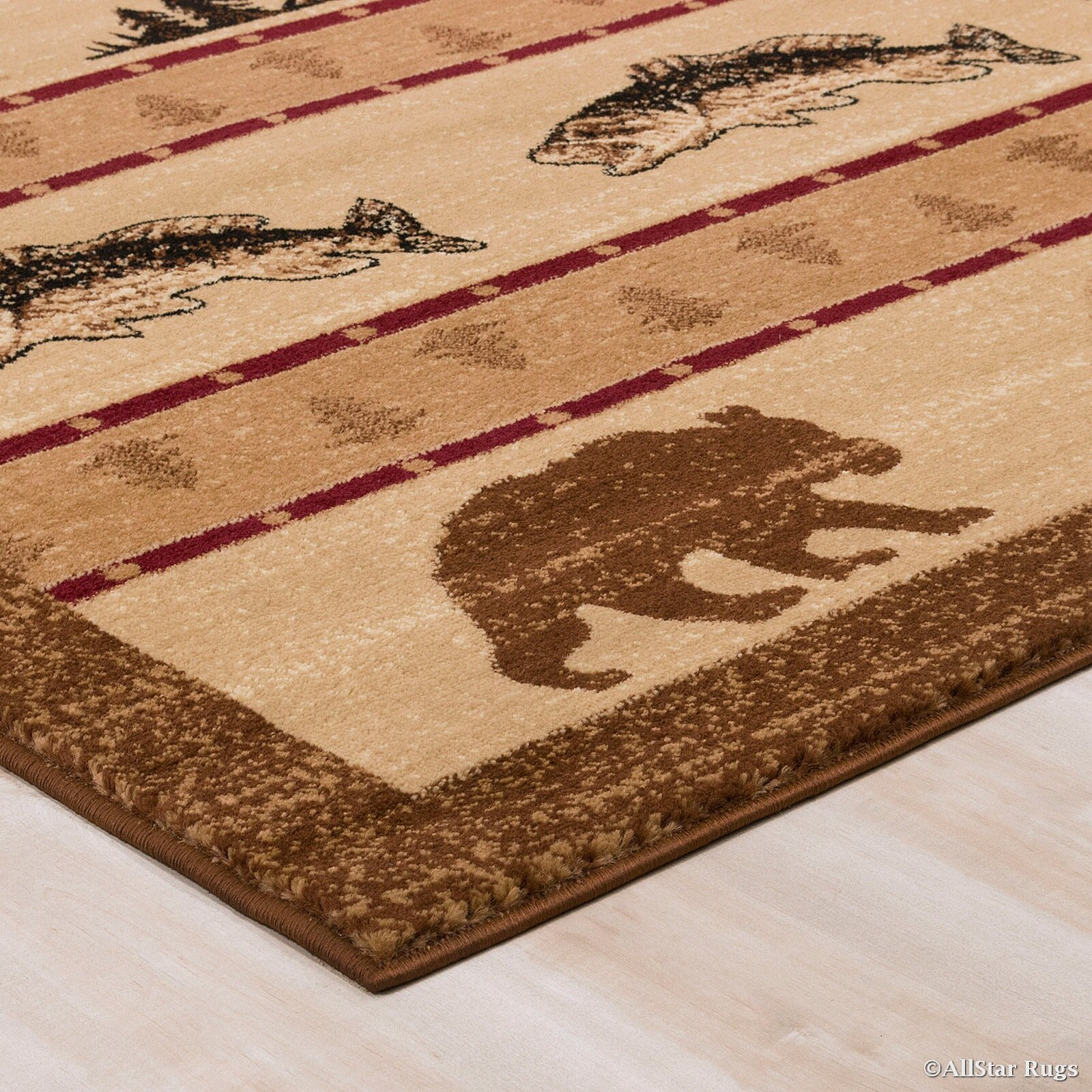 Allstar rugs hand woven brown area rug wayfair for Area carpets and rugs