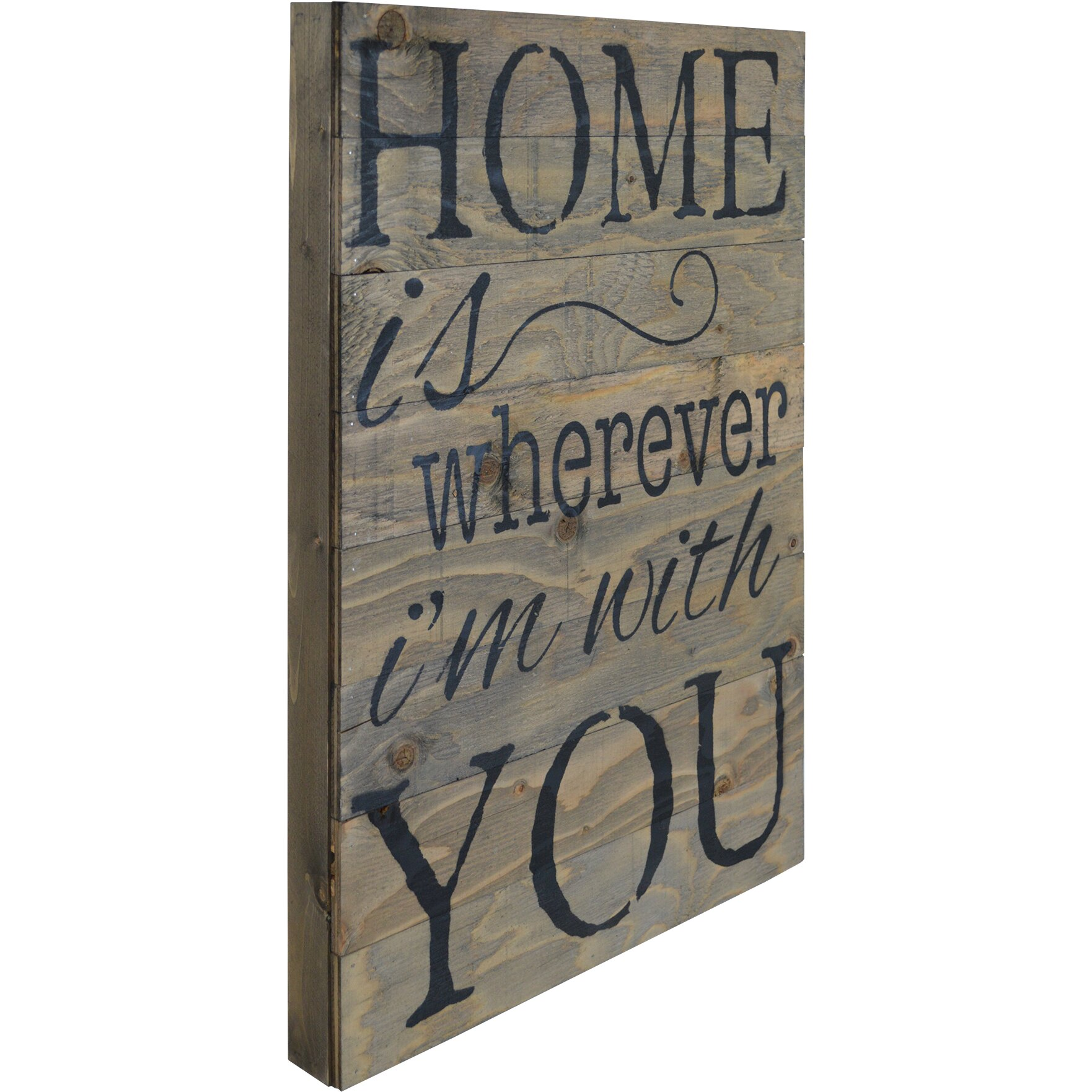 Home Is Wherever I M With You Wood Sign Home Decor