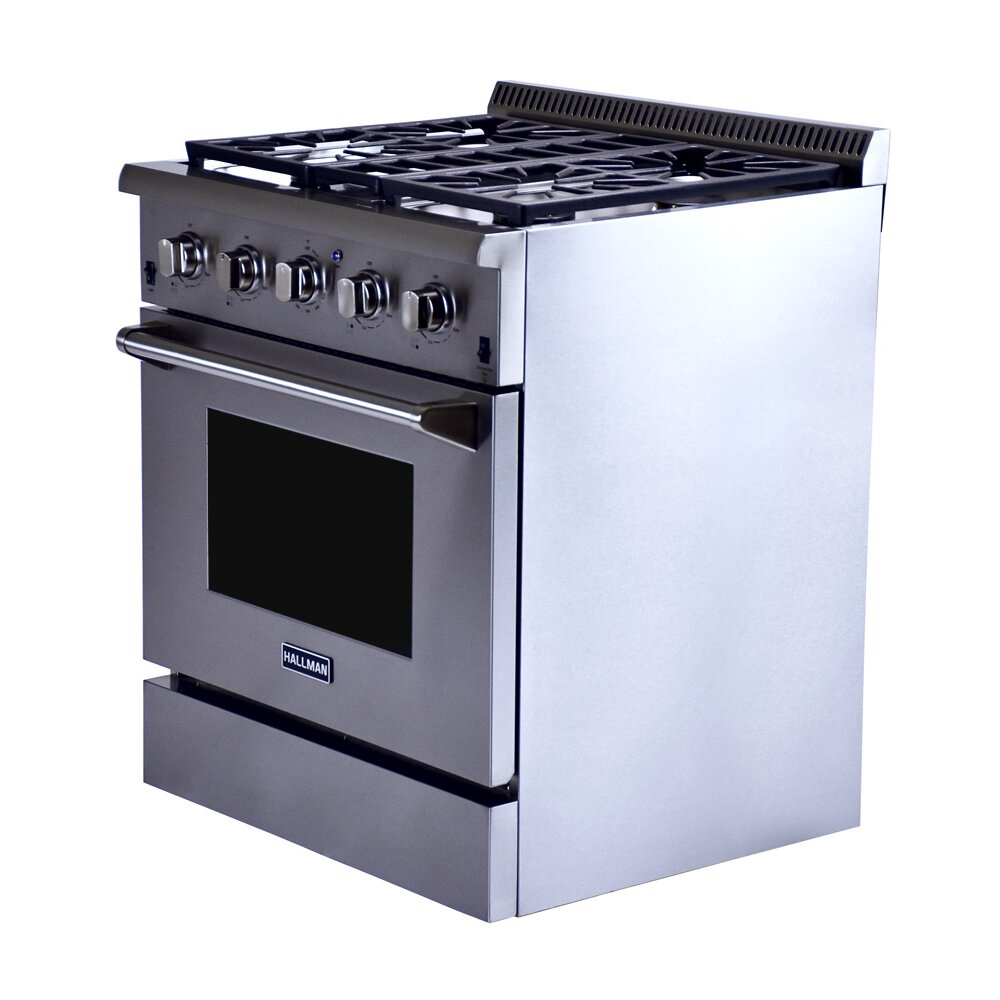 Hallman 4 2 Cu Ft Convection Gas Range Wayfair