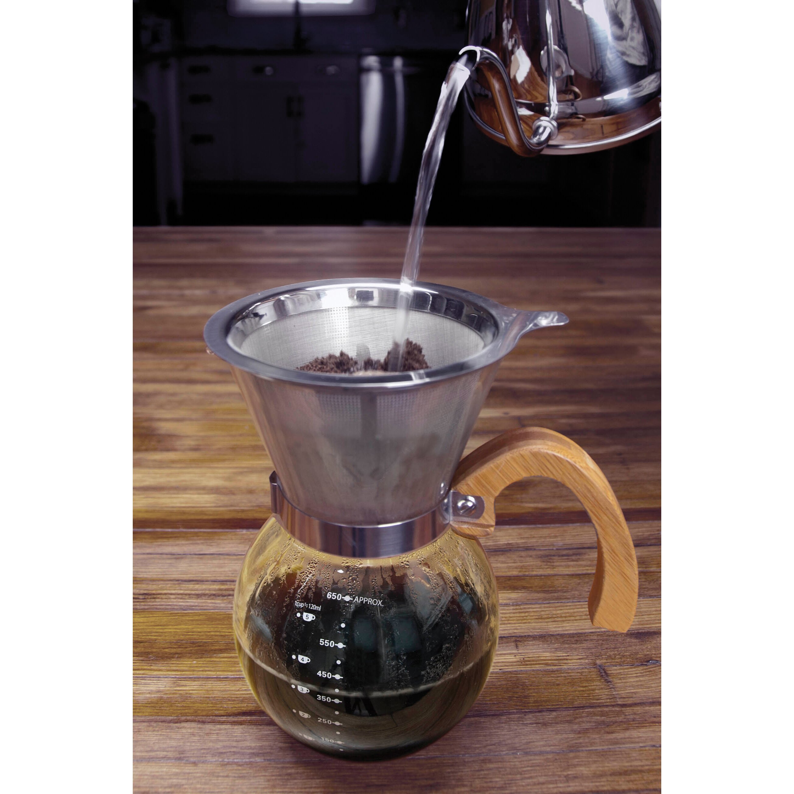 Hic Pour Over Coffee Maker : HIC Harold Import Co. Pour Over Borosilicate Coffee Maker Wayfair