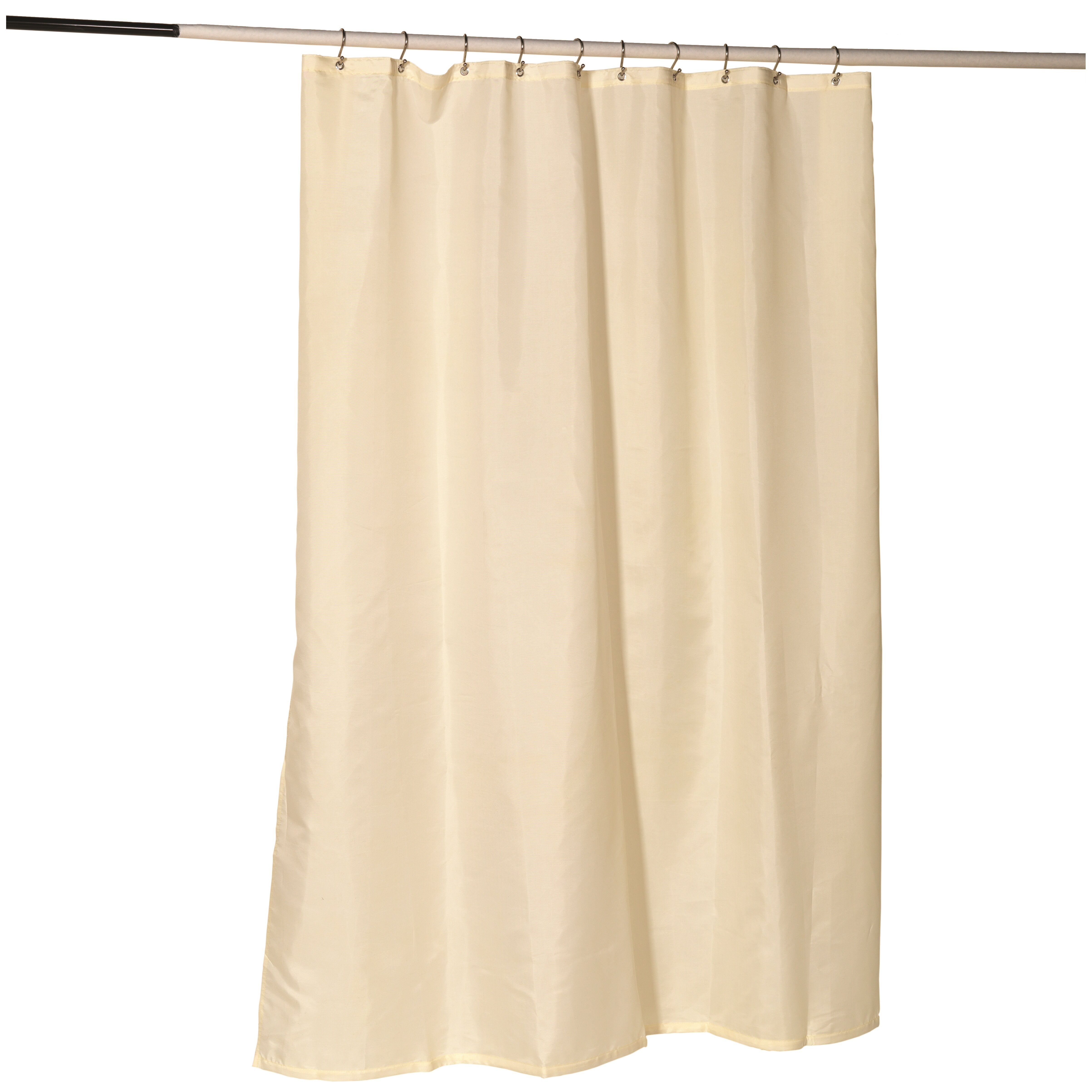Ben And Jonah Nylon Fabric Shower Curtain Liner With Reinforced Header And Metal Grommets