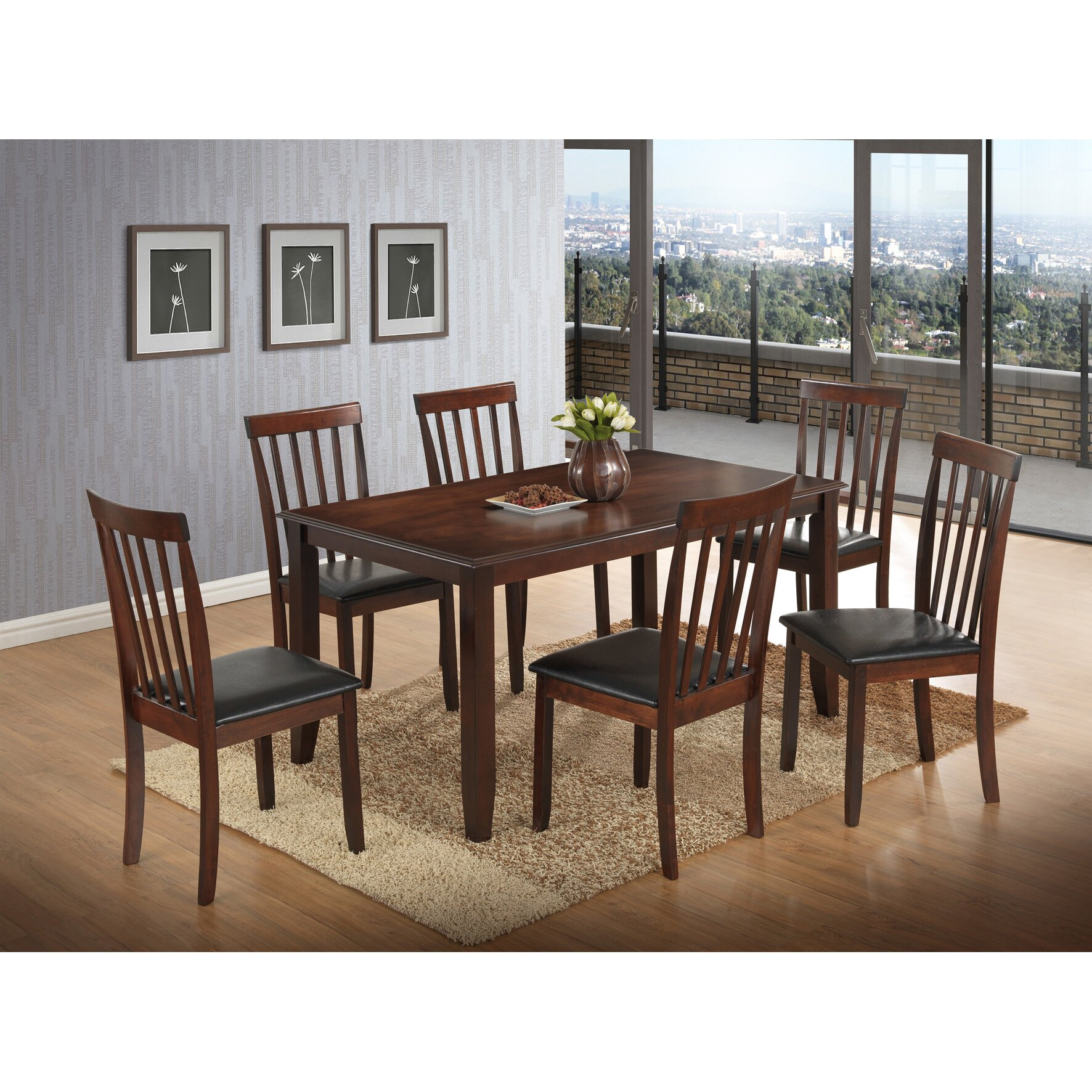 Best Quality Furniture 7 Piece Dining Set Reviews Wayfair