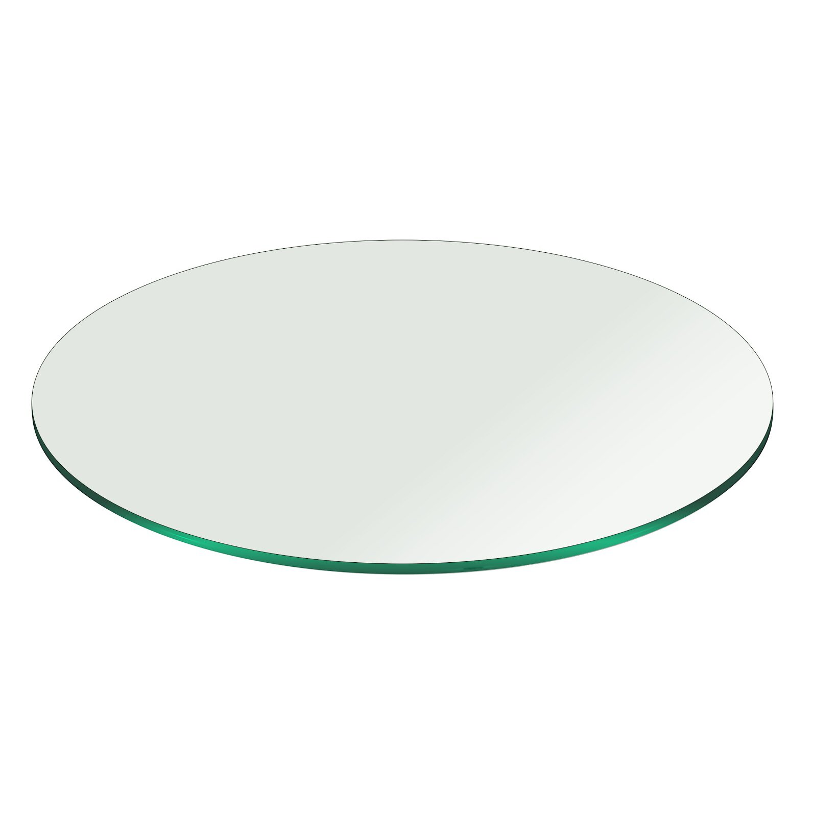 Fab glass and mirror round pencil polish tempered glass for Glass and mirror